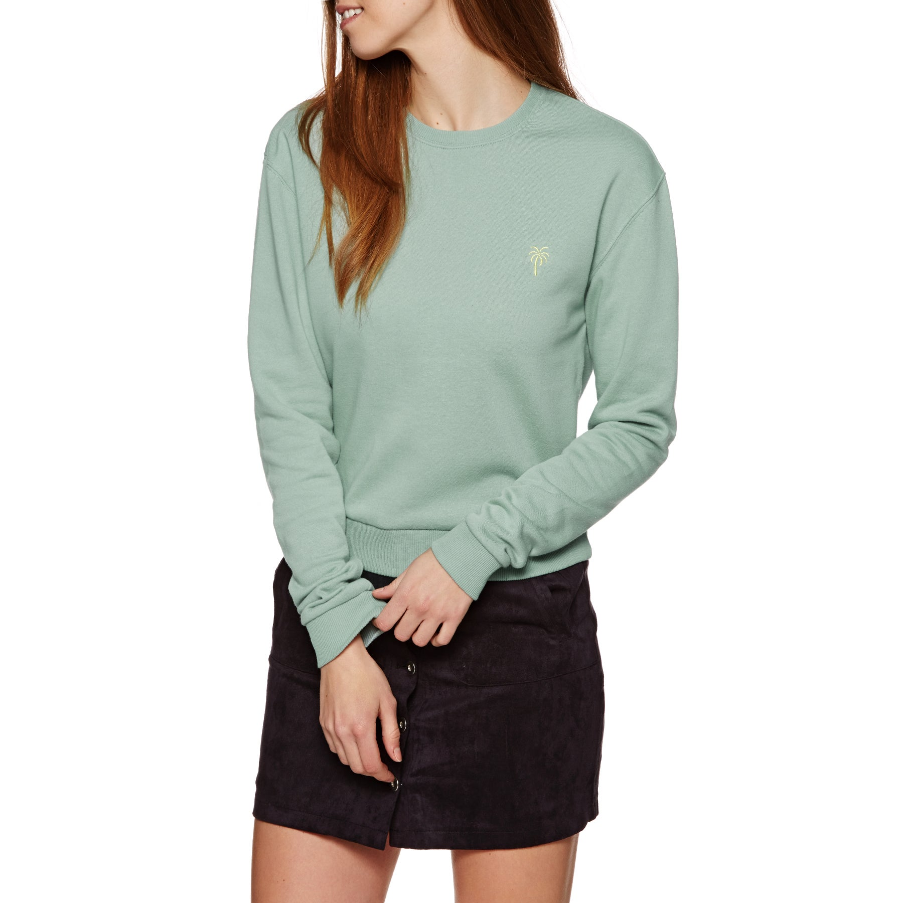 SWELL Demi Crew Womens Sweater - Dark Moss
