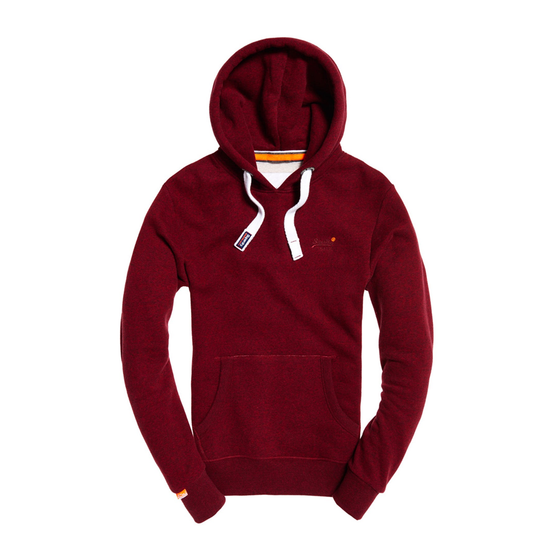 Superdry Orange Label Pullover Hoody - Bright Berry Grit