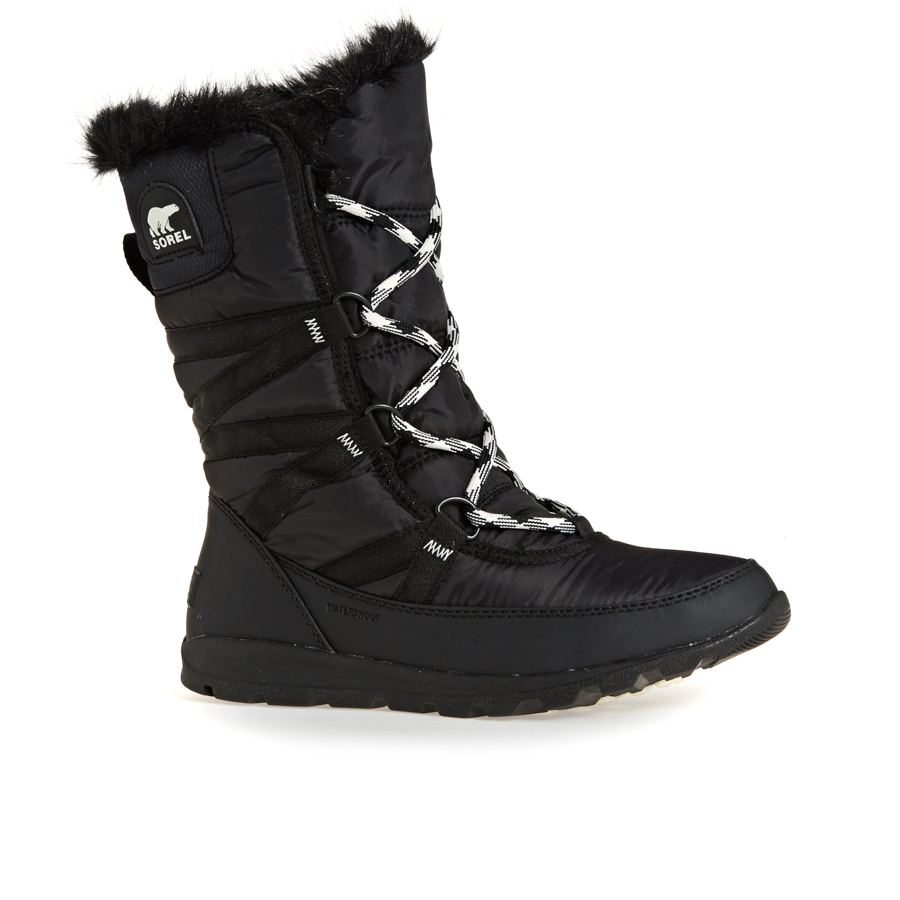 Sorel Whitney Tall Lace Ii Womens Boots - Black