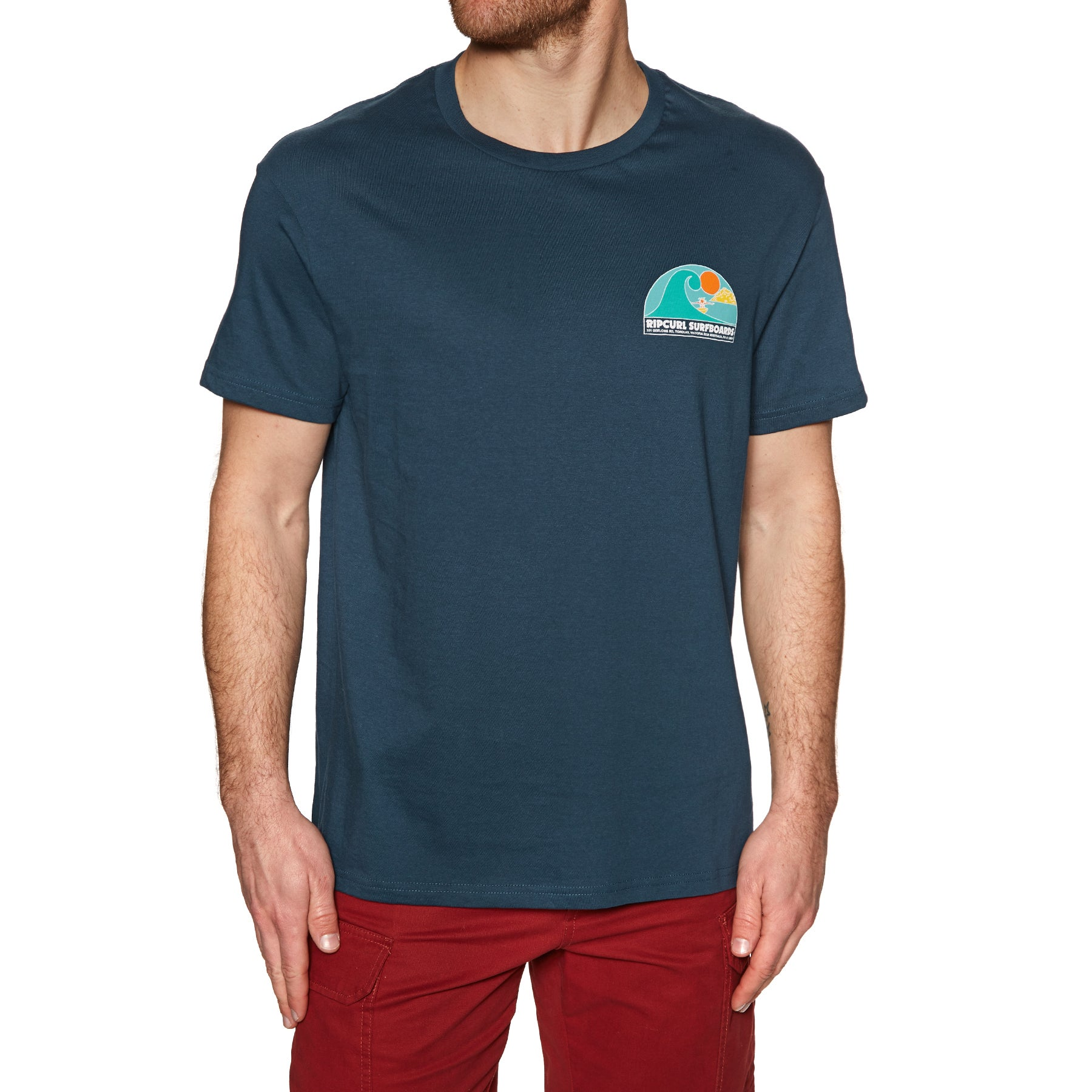 Rip Curl Anime Session Short Sleeve T-Shirt - Navy