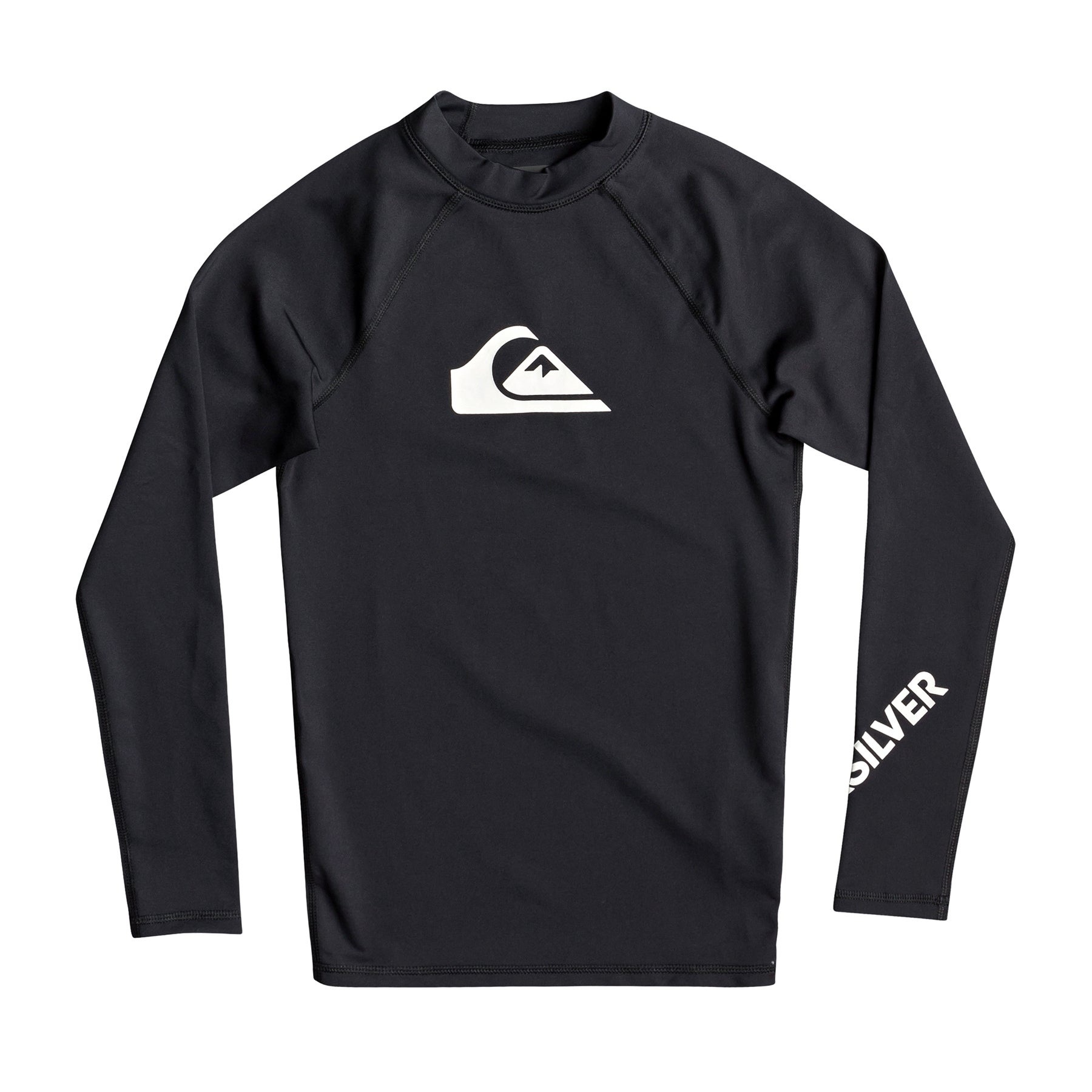 Quiksilver All Time Long Sleeve UPF 50 Boys Rash Vest - Black