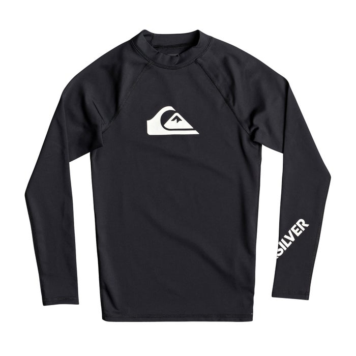 Quiksilver All Time Long Sleeve UPF 50 Boys Rash Vest