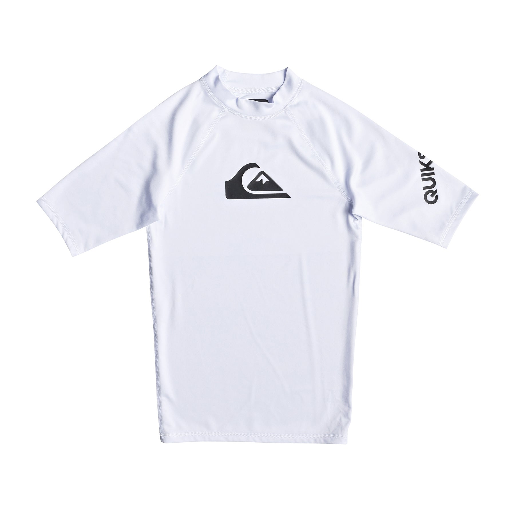 Licra Boys Quiksilver All Time Short Sleeve UPF 50 - White