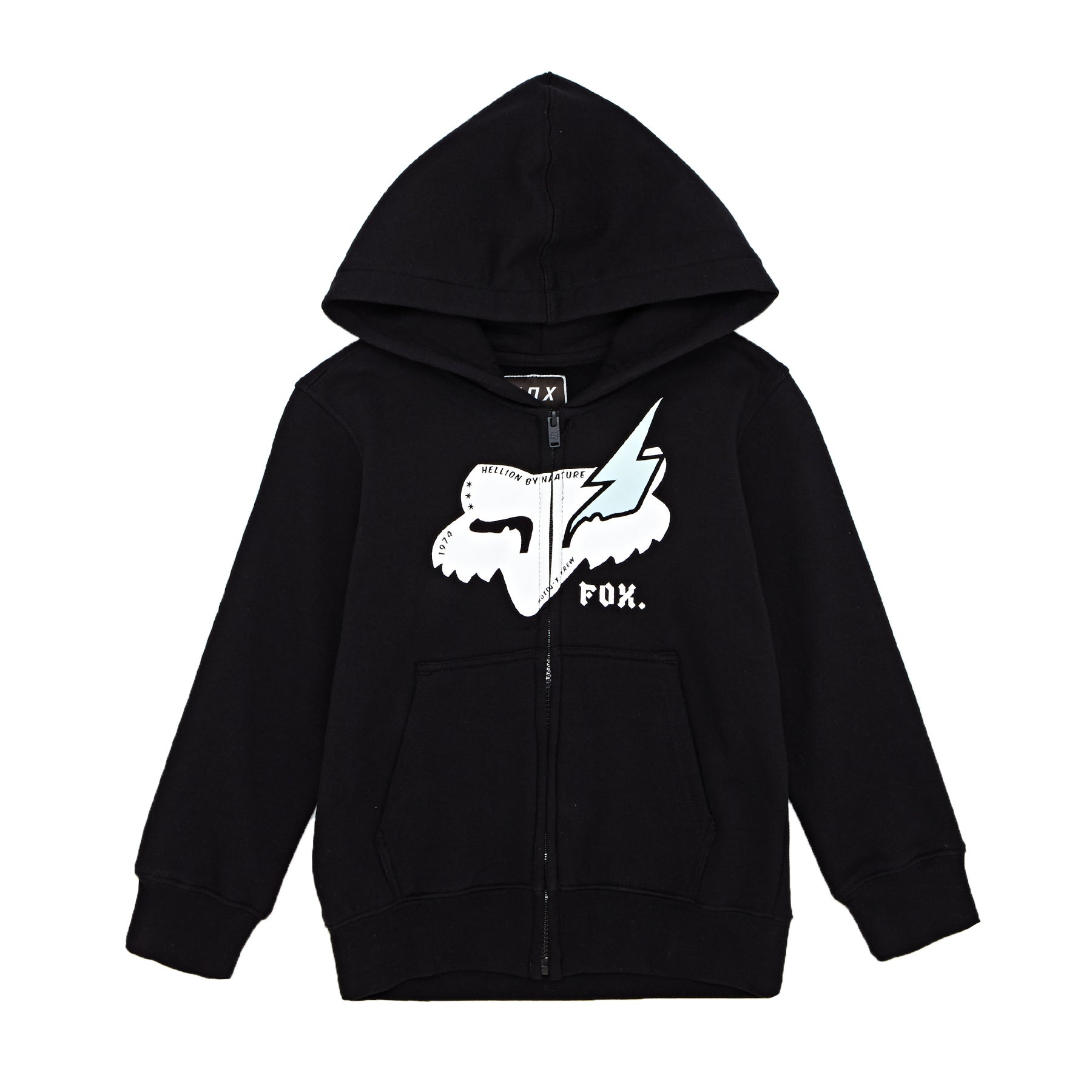 Fox Racing Youth Hellion Fleece Kapuzenpullover mit Reißverschluss - Black