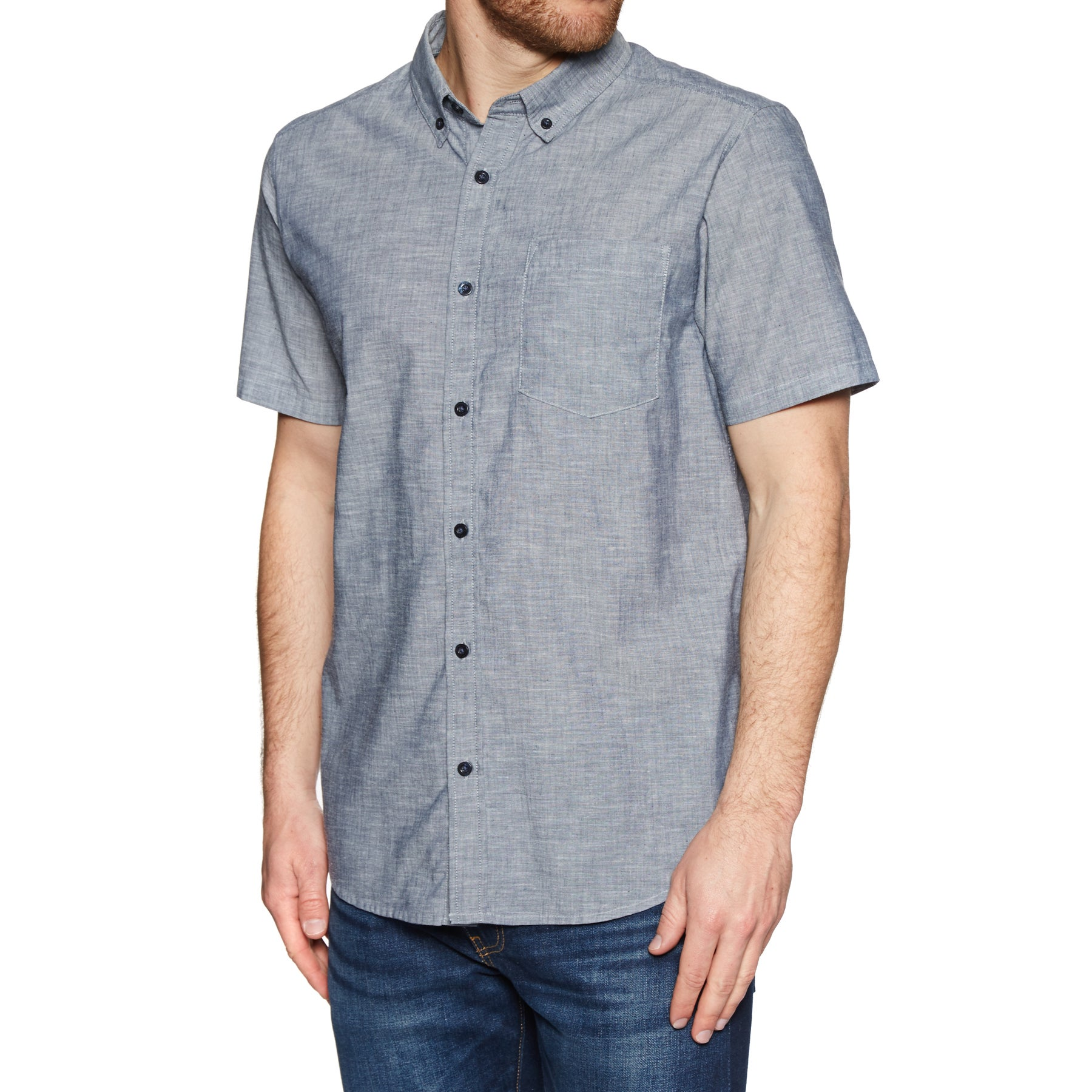 Chemise à Manche Courte Patagonia Lightweight Bluffside - Classic Navy