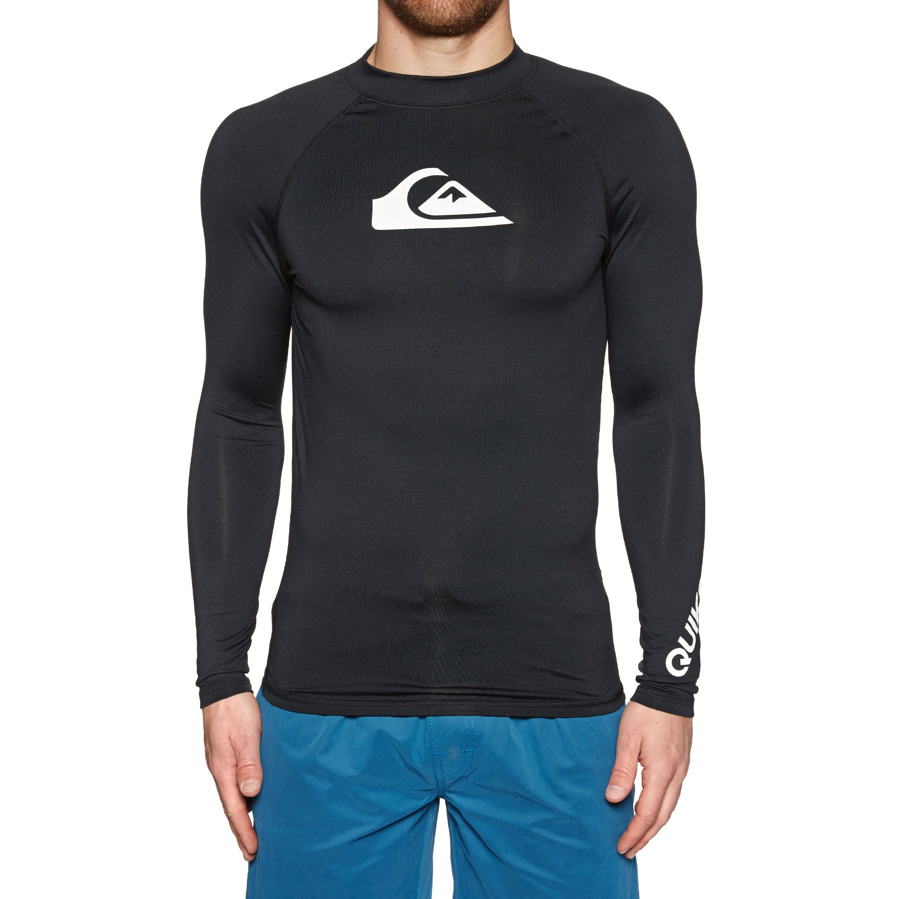 Quiksilver All Time Long Sleeve UPF 50 Rash Vest - Black