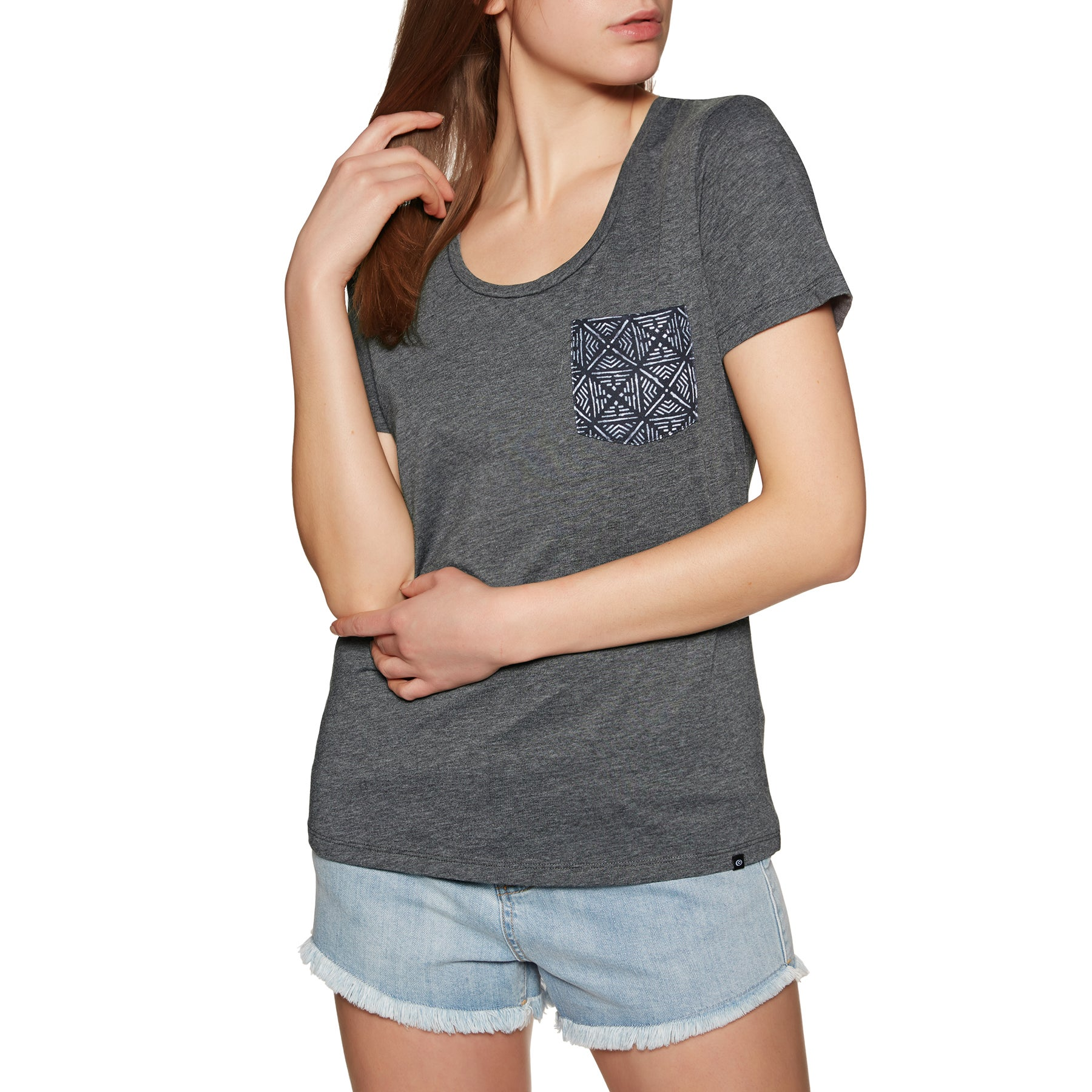 Rip Curl Beauty Pocket Short Sleeve T-Shirt - Black