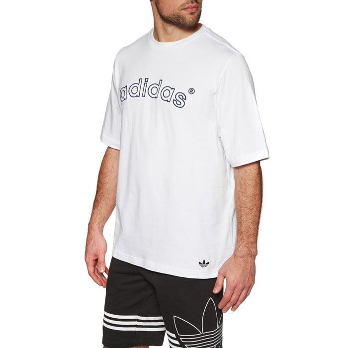 285d5a64b6b0 Adidas Originals Archive Logo Embroidered Short Sleeve T-Shirt ...