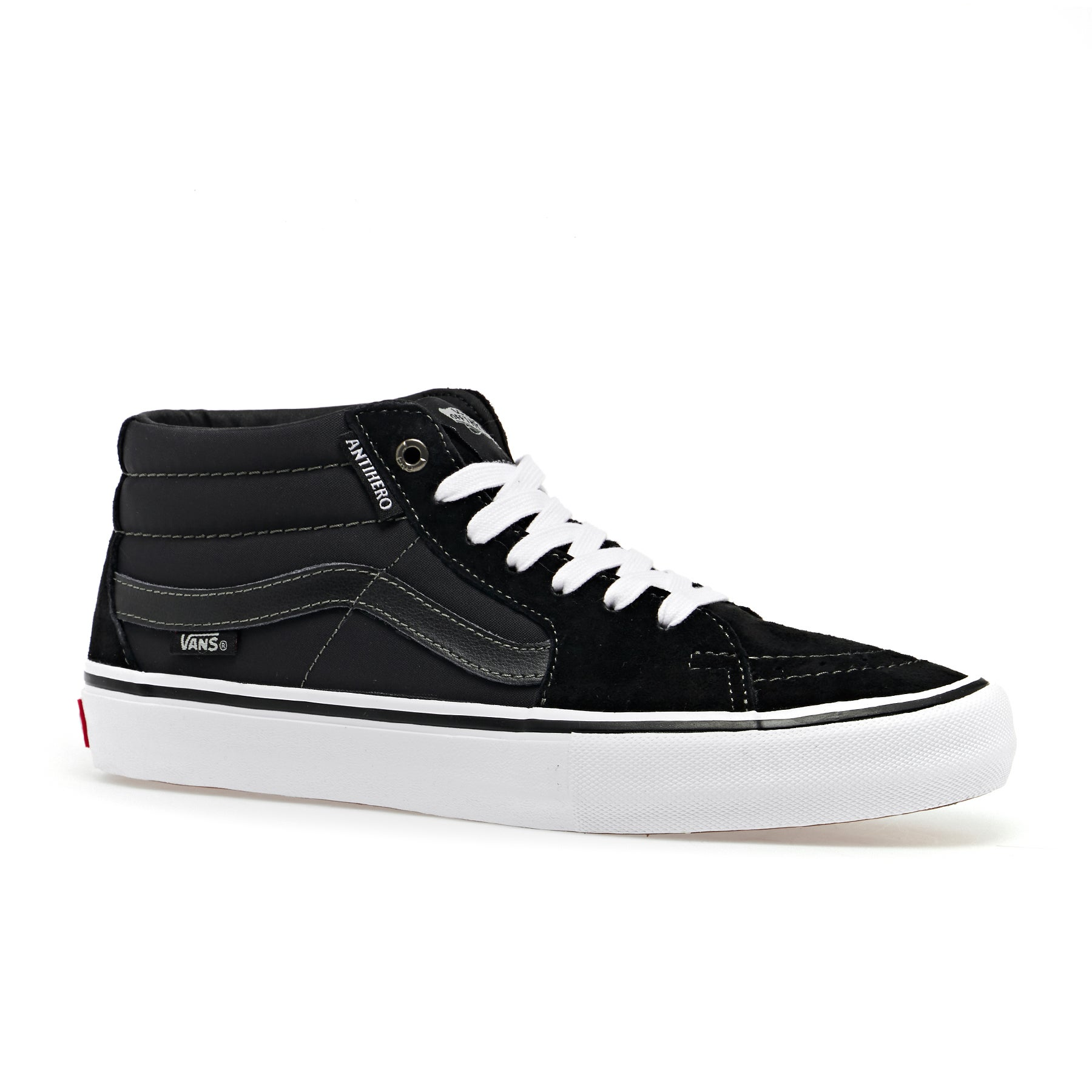 Vans Sk8 Mid Pro Shoes - Anti Hero Grosso Black