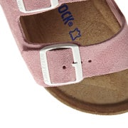 Birkenstock Arizona Suede Leather Soft Footbed Narrow Womens Sandals