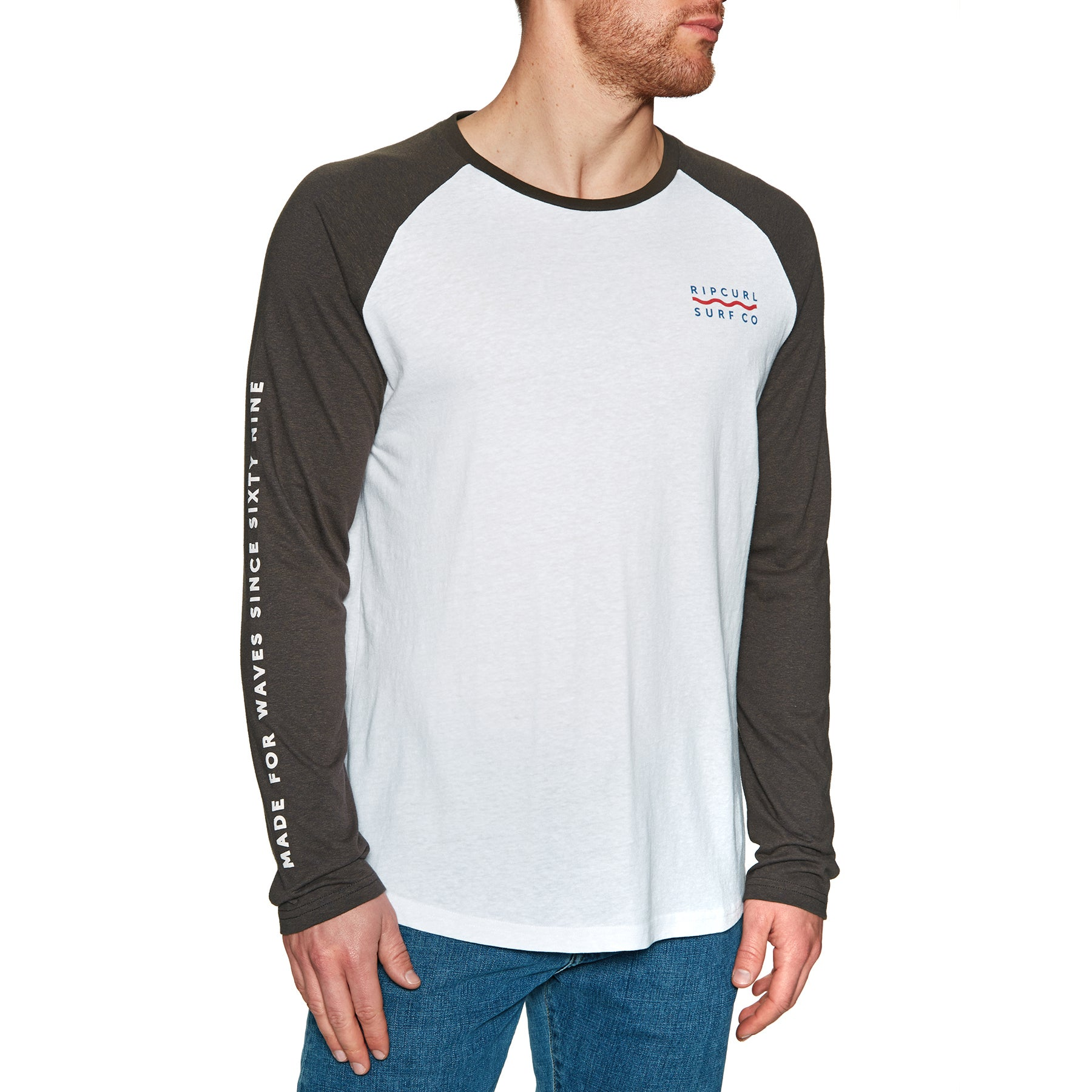 Rip Curl Shore Lines Long Sleeve T-Shirt - Optical White