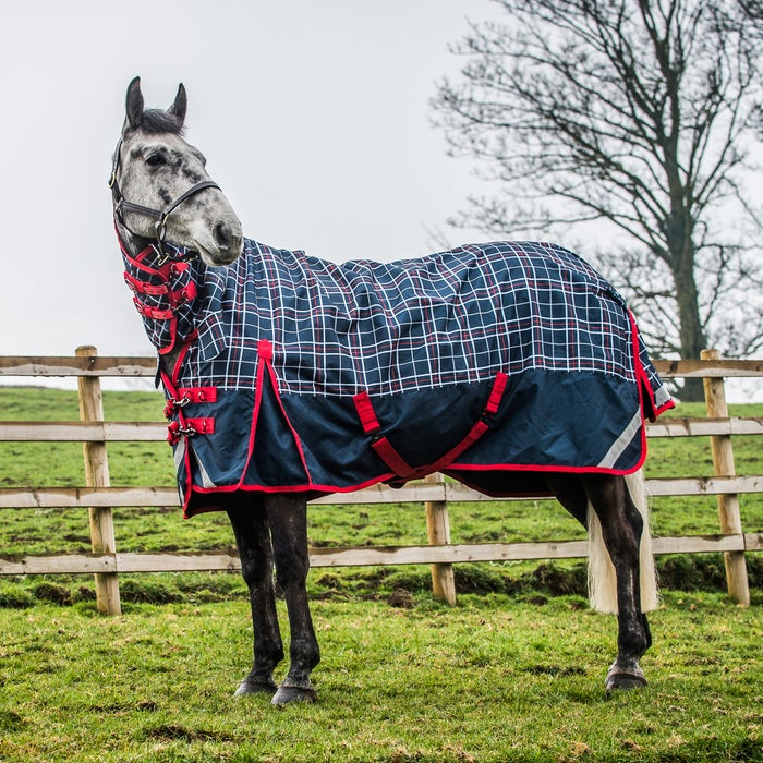 Derby House Elite Lightweight Checked Combo Turnout Rug From