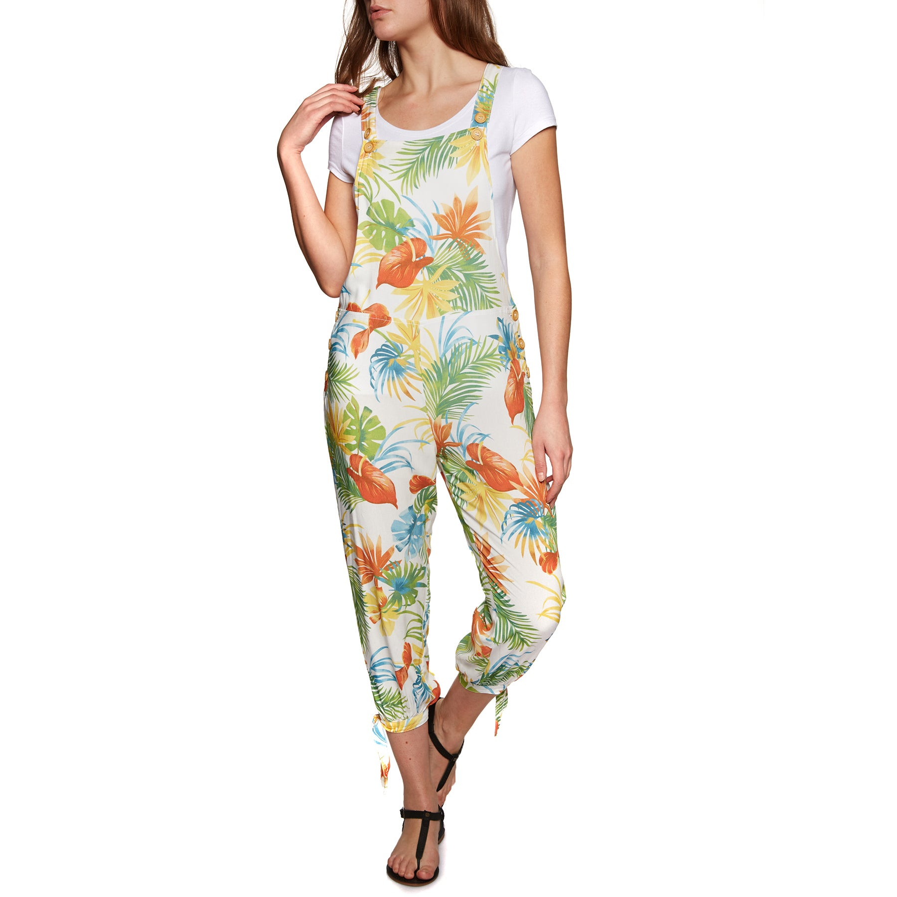 Rhythm Tropicana Jumpsuit - White
