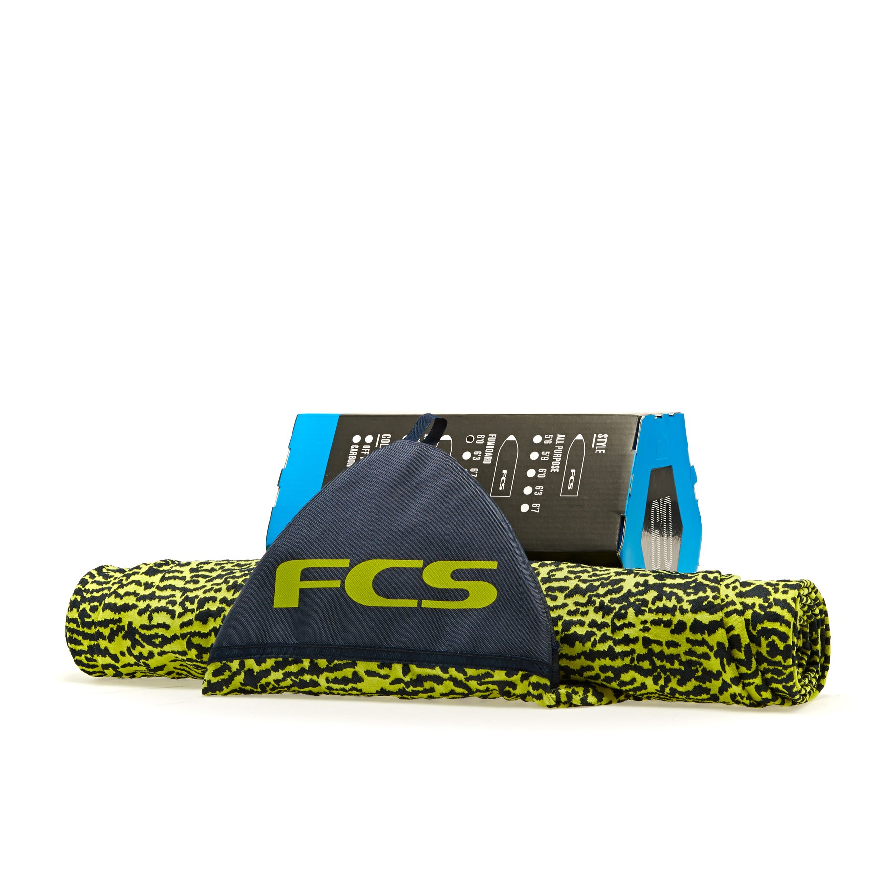 FCS Stretch Funboard Sock Surfboard Bag - Ice Yellow