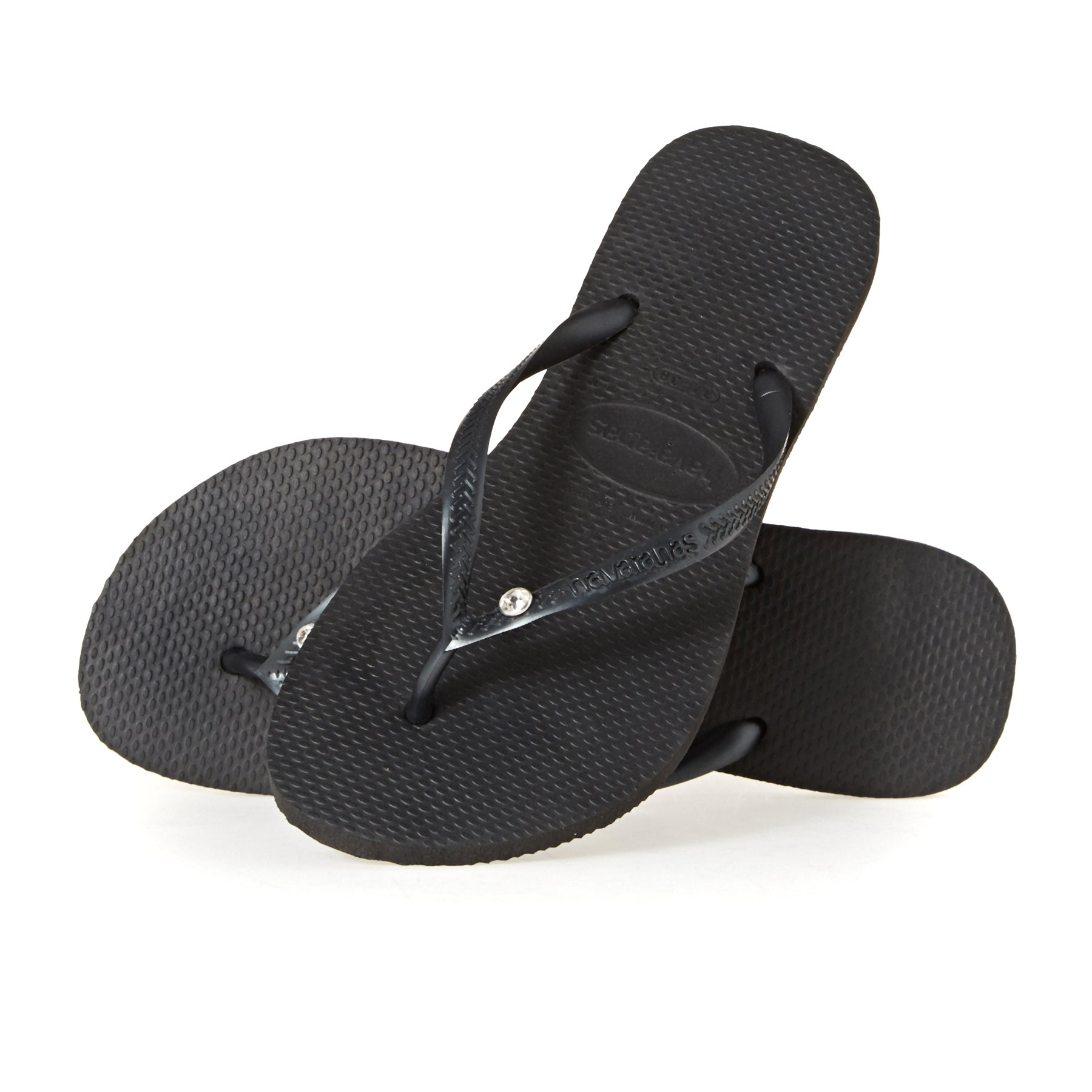 Havaianas Slim Crystal Glamour Womens Sandals - Black