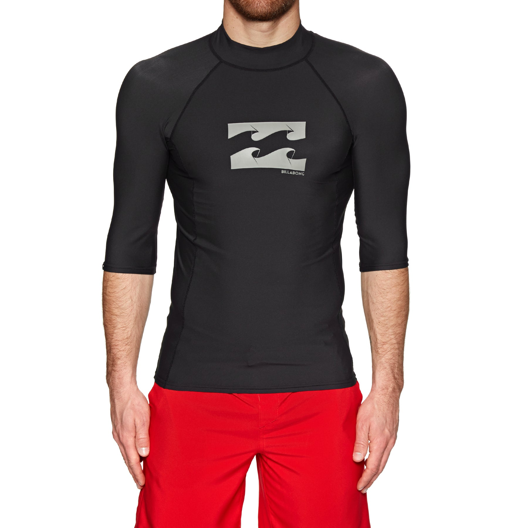 Billabong Advance Short Sleeve Rash Vest - Black
