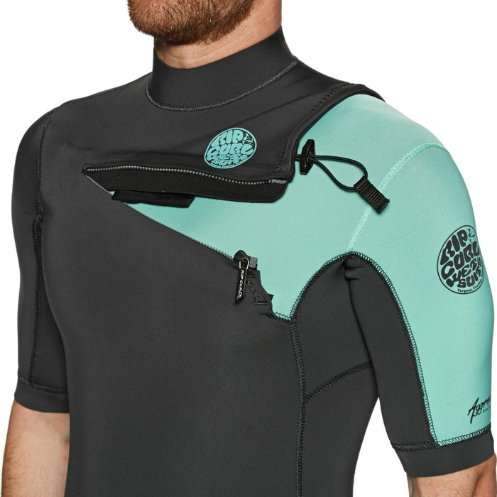 Rip Curl Aggro 2mm 2019 Chest Zip Shorty Wetsuit