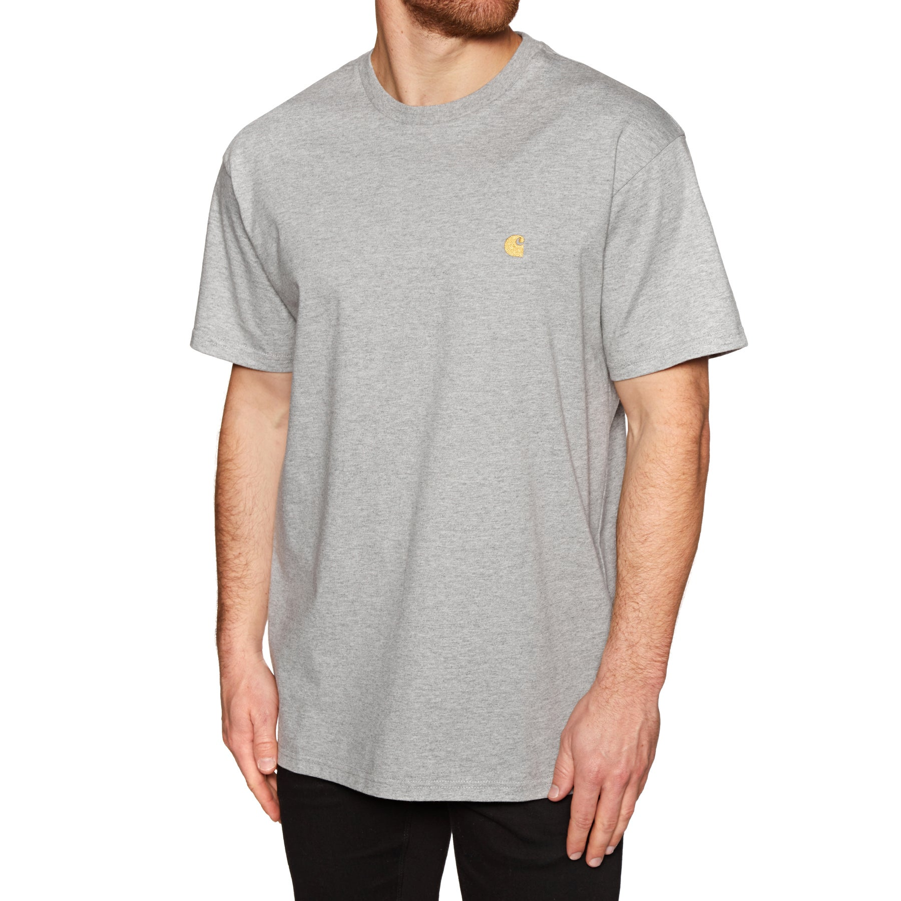 T-Shirt à Manche Courte Carhartt Chase - Grey Heather Gold