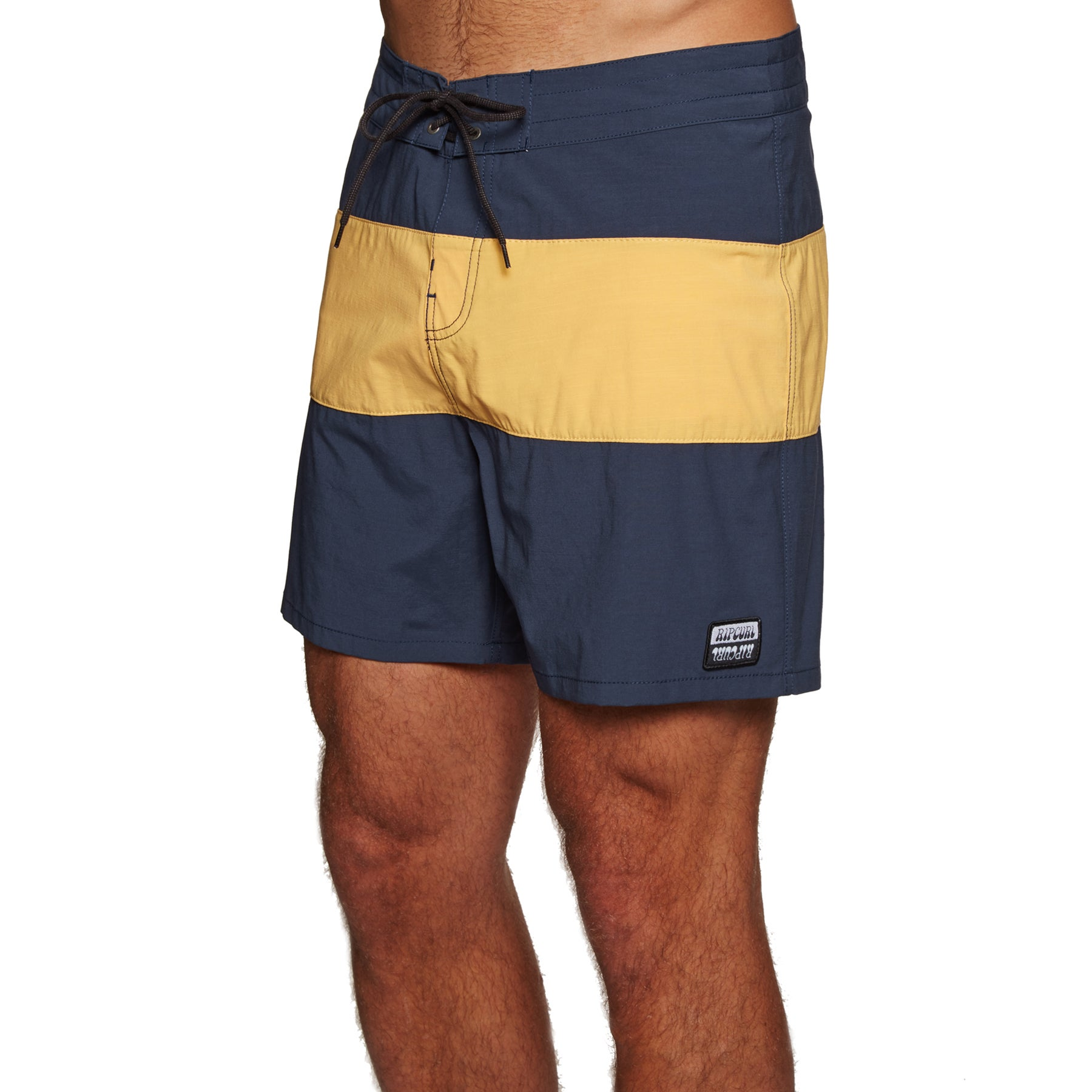 Rip Curl Retro Paneled 17in Boardshorts - Dirty Yellow