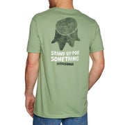 dbe4d692be9a6 Patagonia Stand Up Organic Short Sleeve T-Shirt available from Surfdome