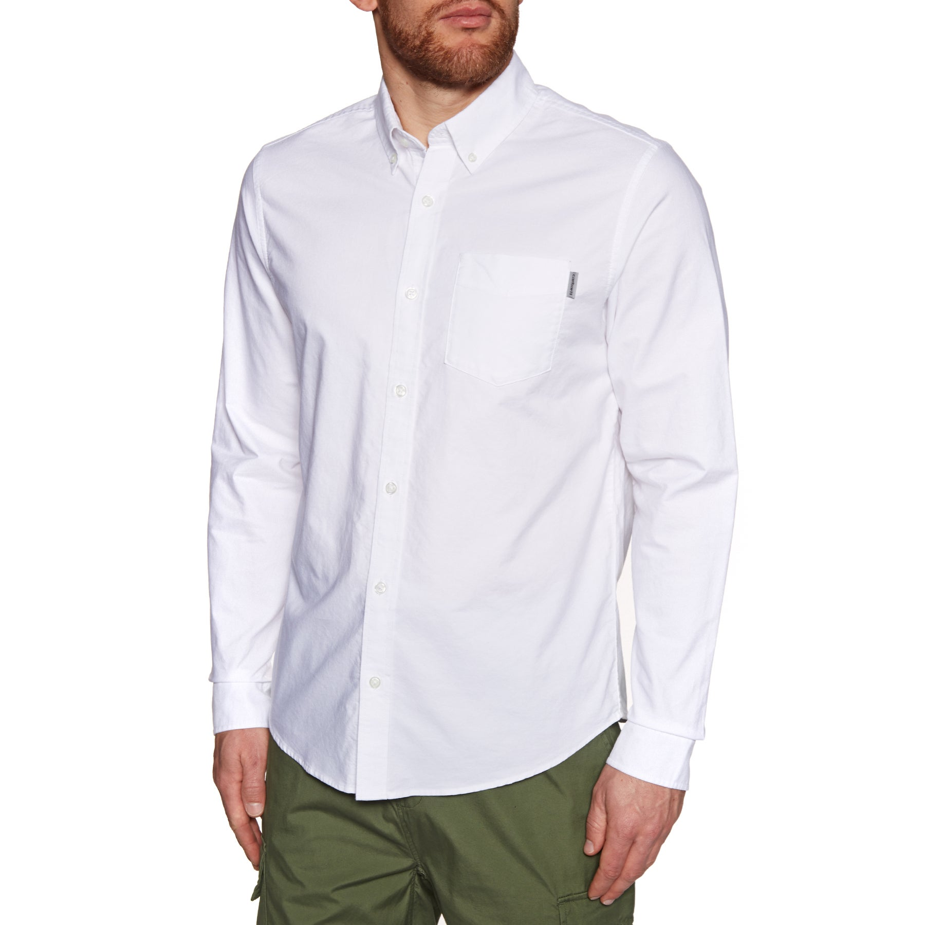 Carhartt Button Down Pocket Shirt - White