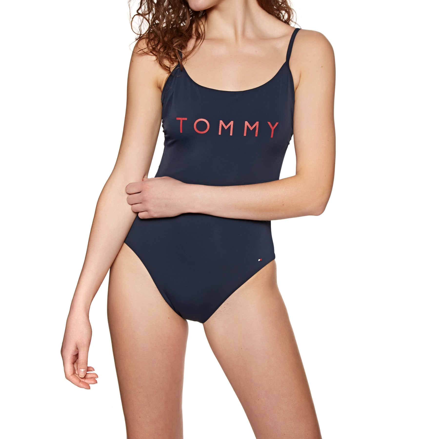 3d74cf90a Tommy Hilfiger One Piece Logo Womens Swimsuit available from Surfdome