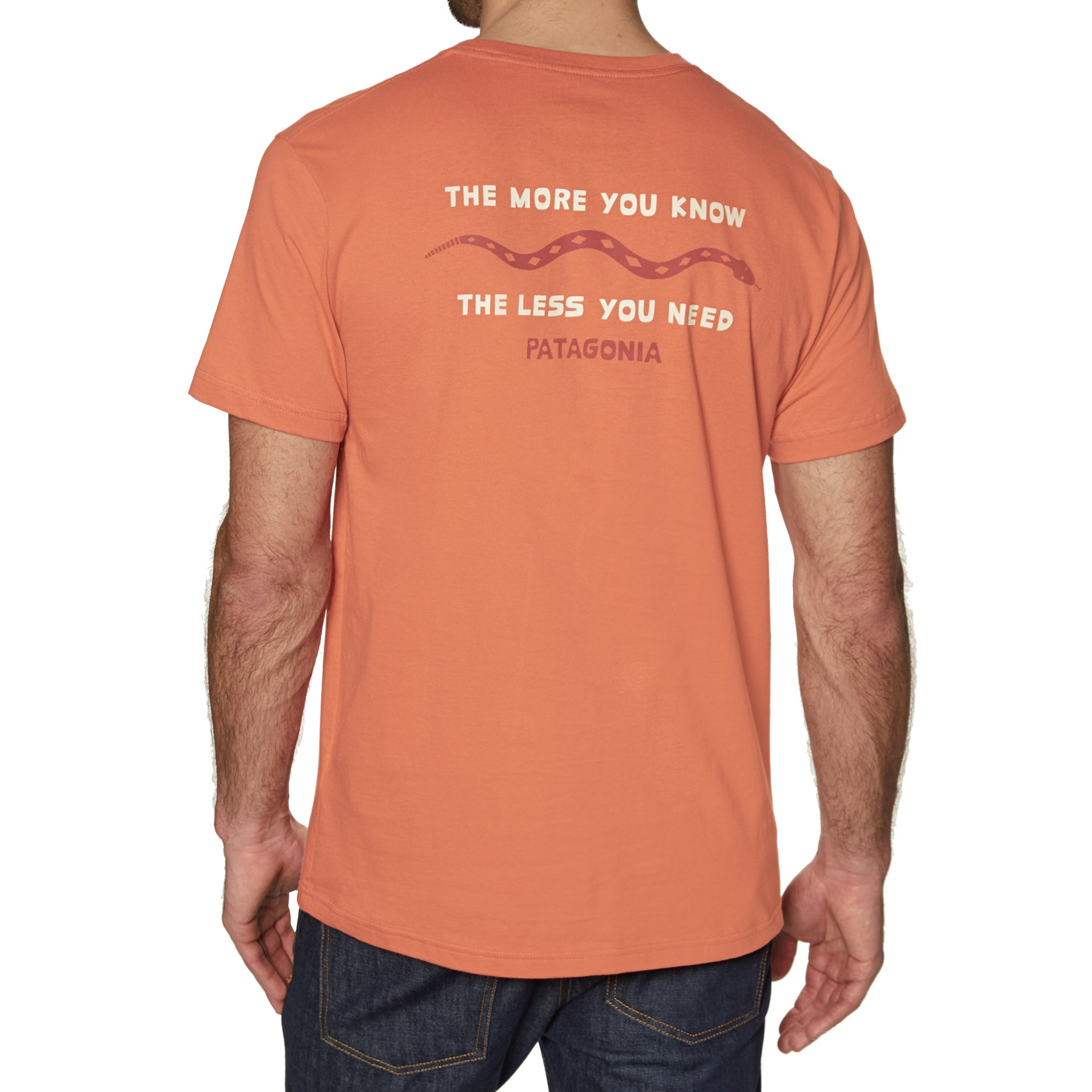Patagonia The Less You Need Organic Short Sleeve T-Shirt - Sunset Orange