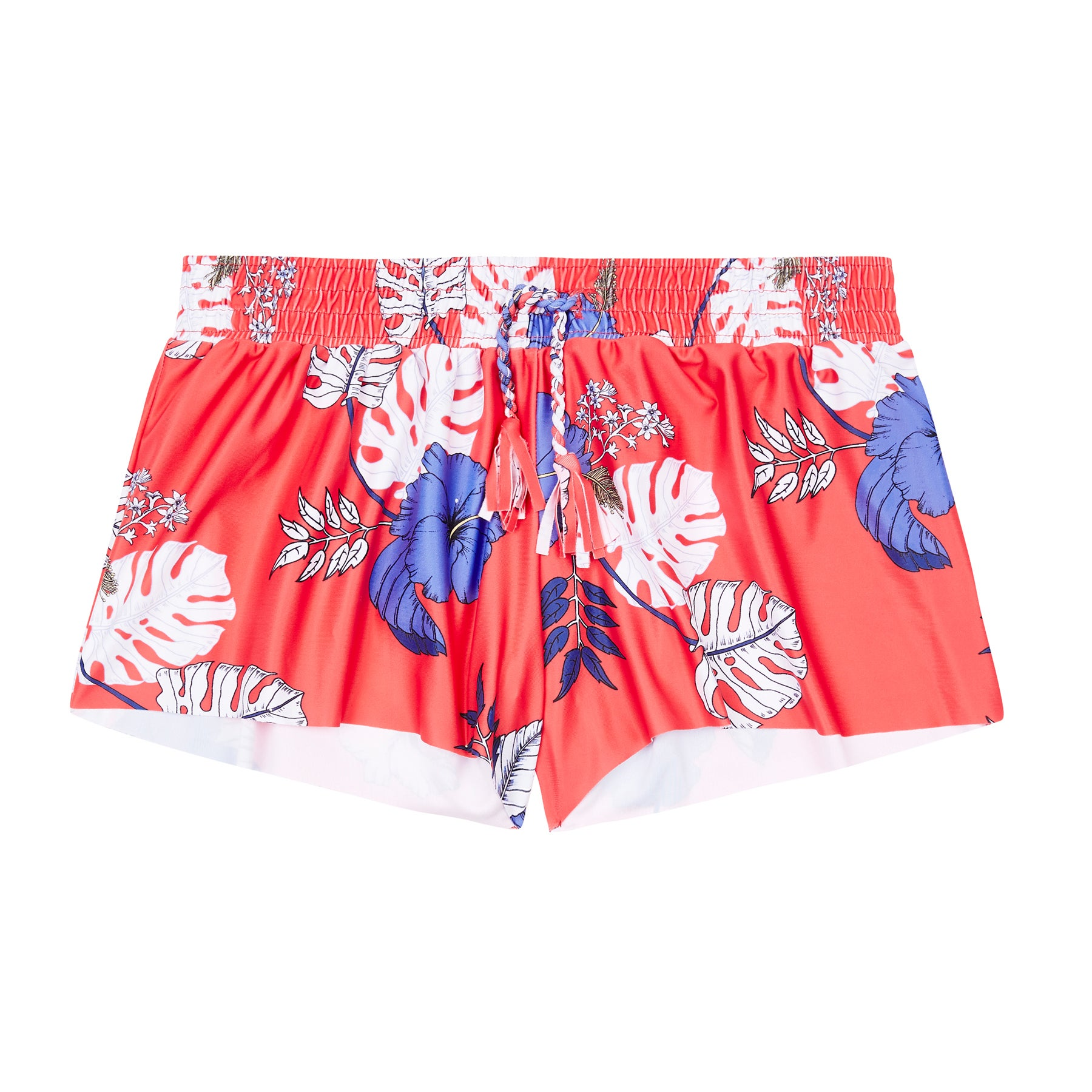 Seafolly Boardie Mädchen Strand-Shorts - Hibiscus Red