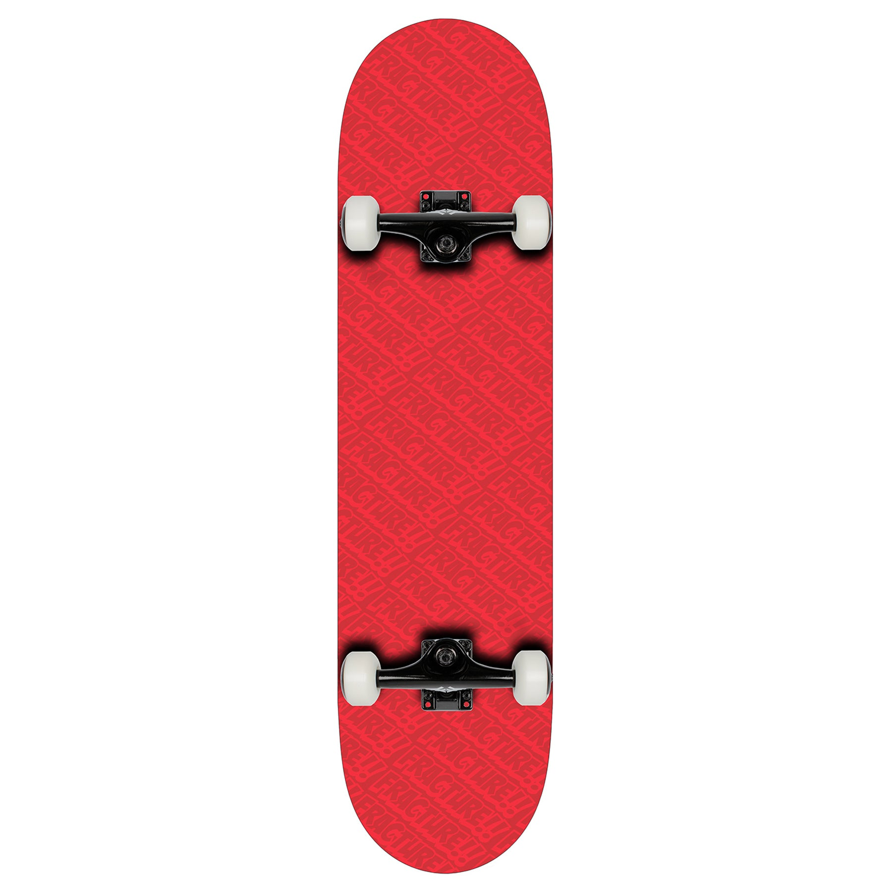 Fracture All Over Comic Complete 7.75 Skateboard - Red