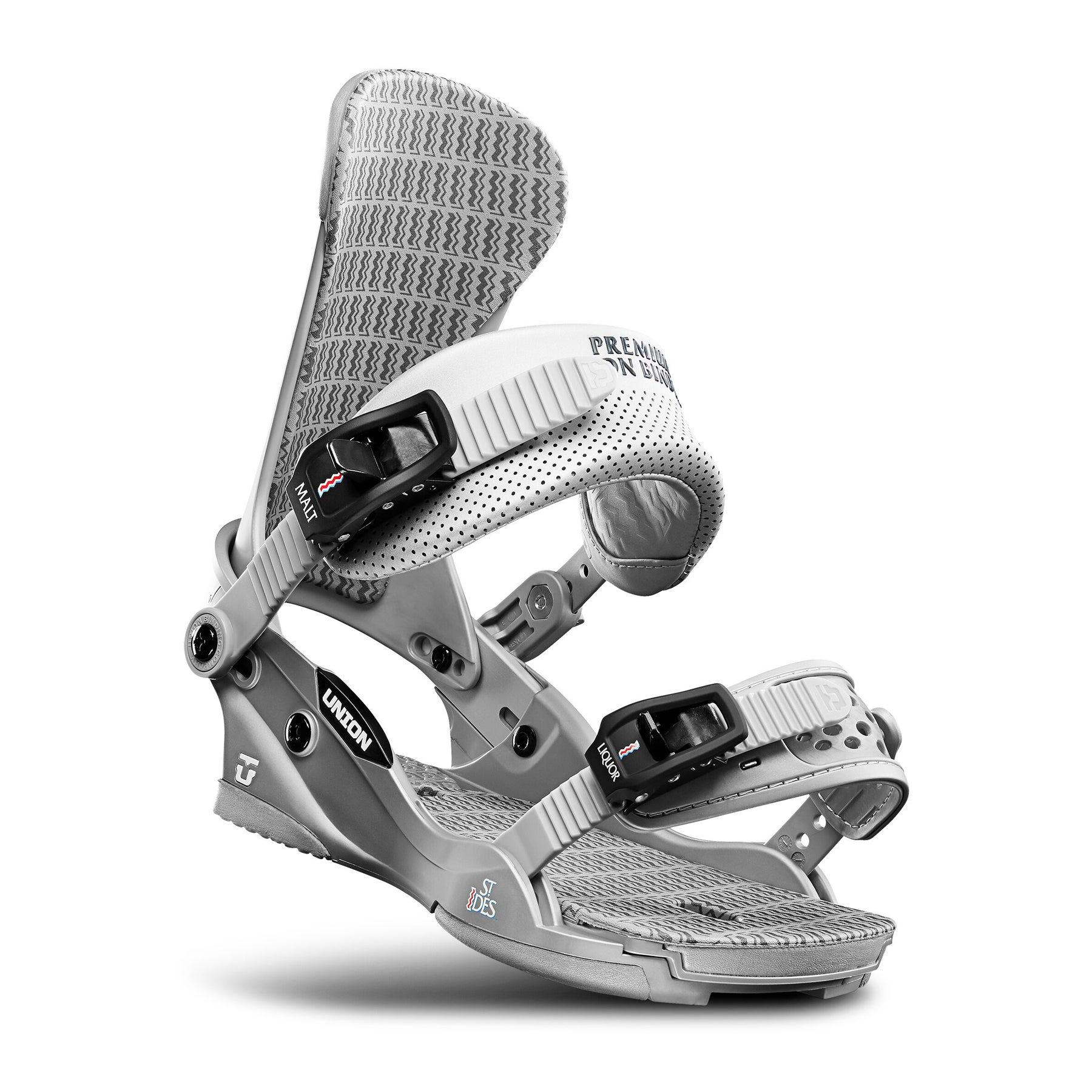Snowboard Bindings Union St Ides - Silver