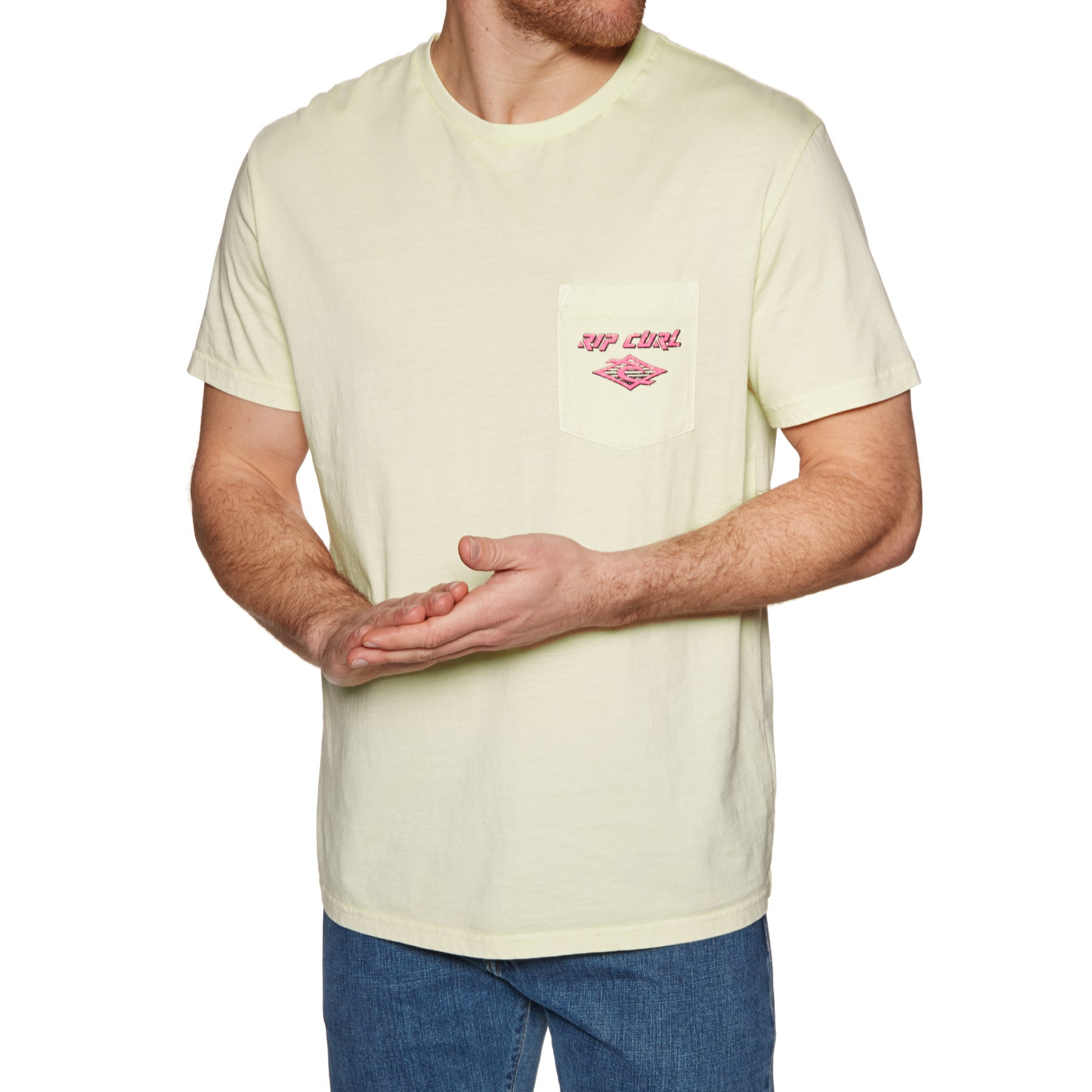 Rip Curl So Authentic Short Sleeve T-Shirt - Pale Yellow