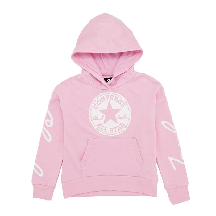 958c7c3b847f Converse Chuck Taylor Script F.t Pink Foam Kids Pullover Hoody available  from Surfdome