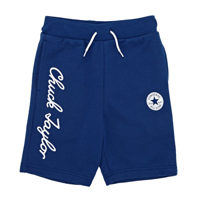 77add1505772 Converse Chuck Taylor Script French Terry Kids Shorts available from ...