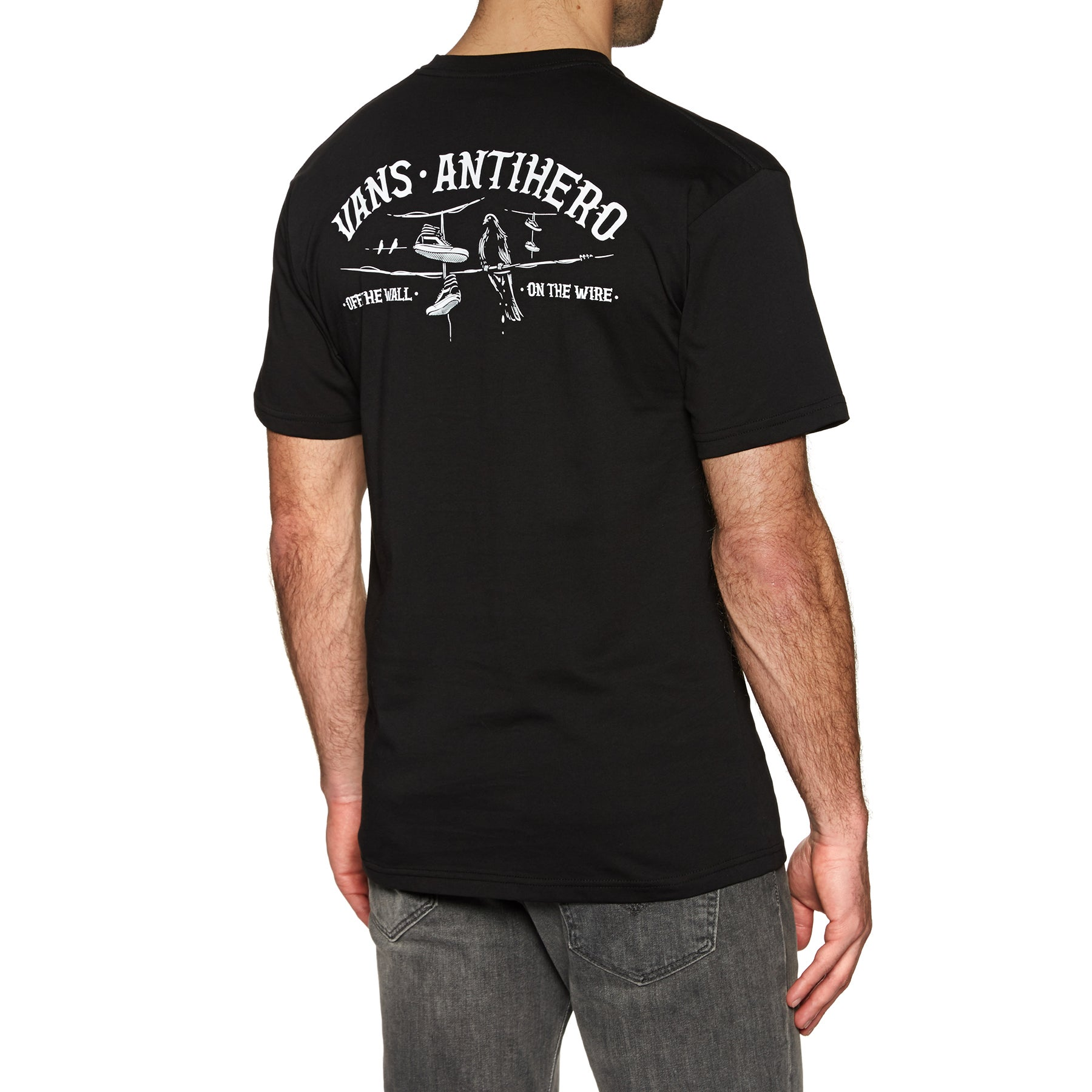 Vans X Anti Hero On The Wire Short Sleeve T-Shirt - Black