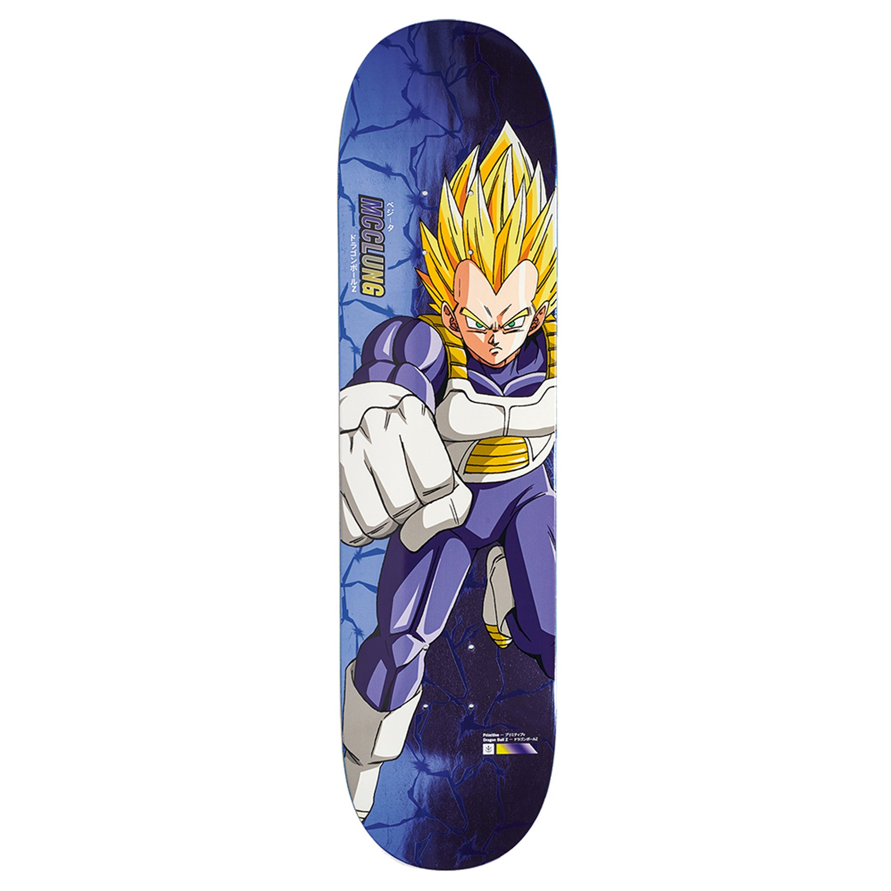 Primitive Mcclung Vegeta 8 Inch Skateboard Deck - Multi