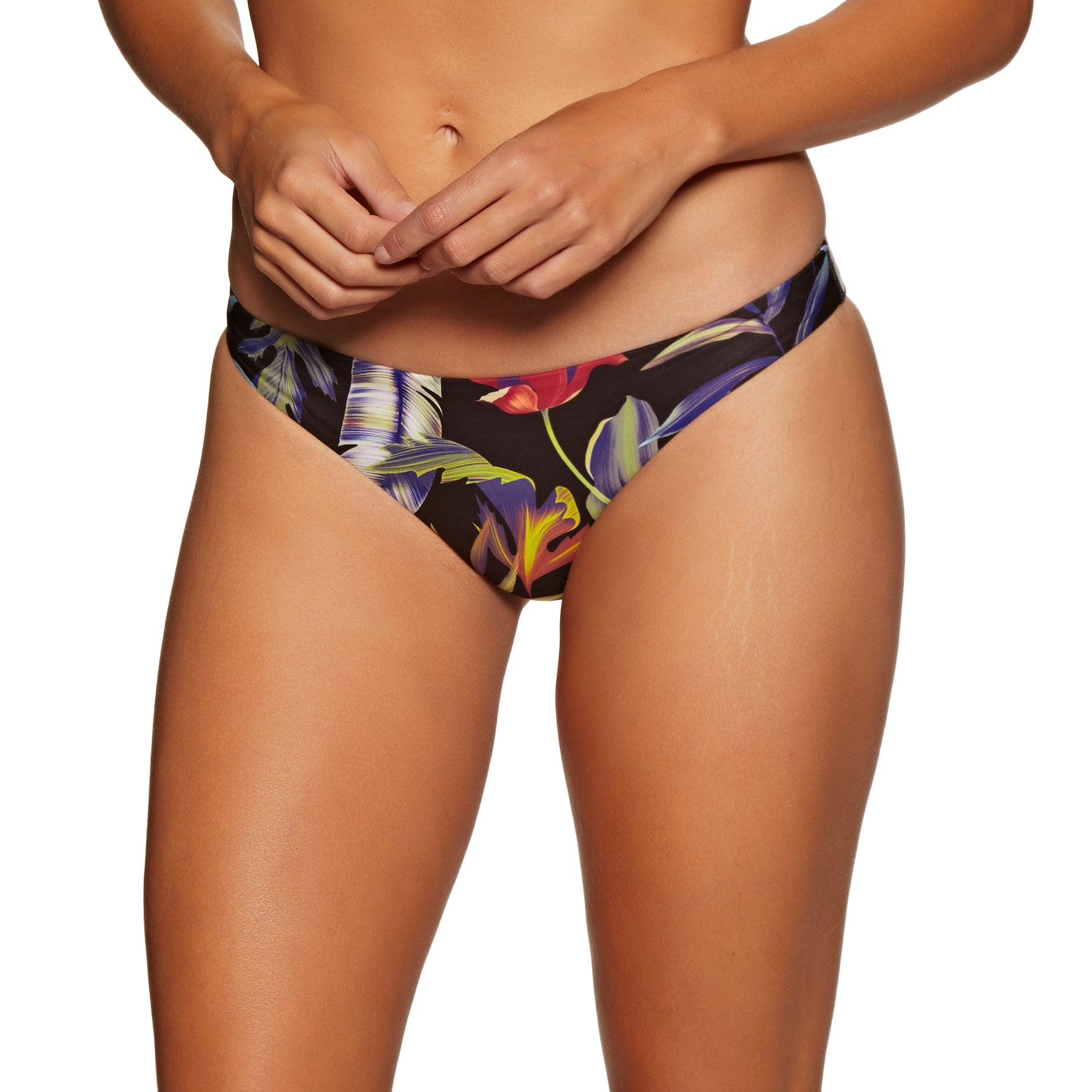 Hurley Quick Drying Floral Surf Bikini Bottoms - Black