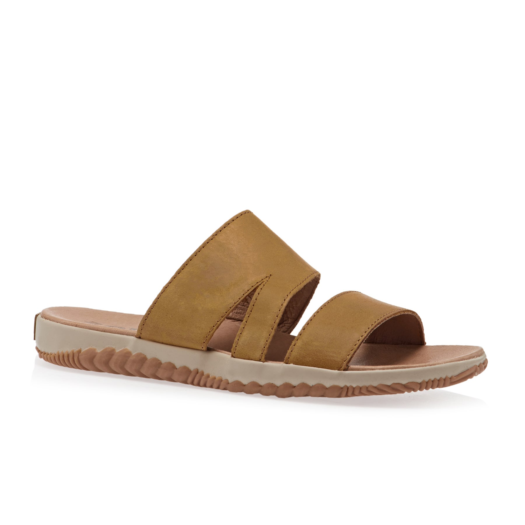 Sorel Out N About Plus Slide Womens Sandals - Camel Brown
