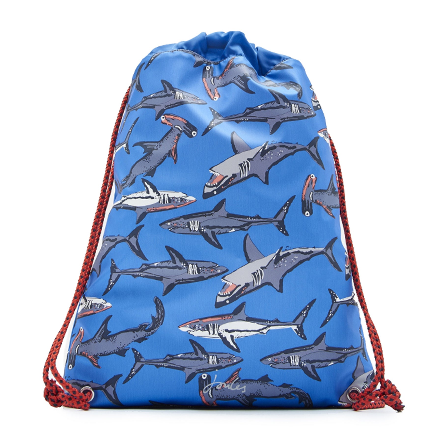 Joules Rubber Bag Boys Backpack - Blue Sharks