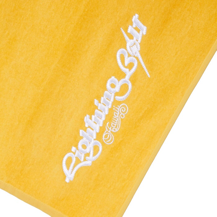 Beach Towel Lightning Bolt Embroidery