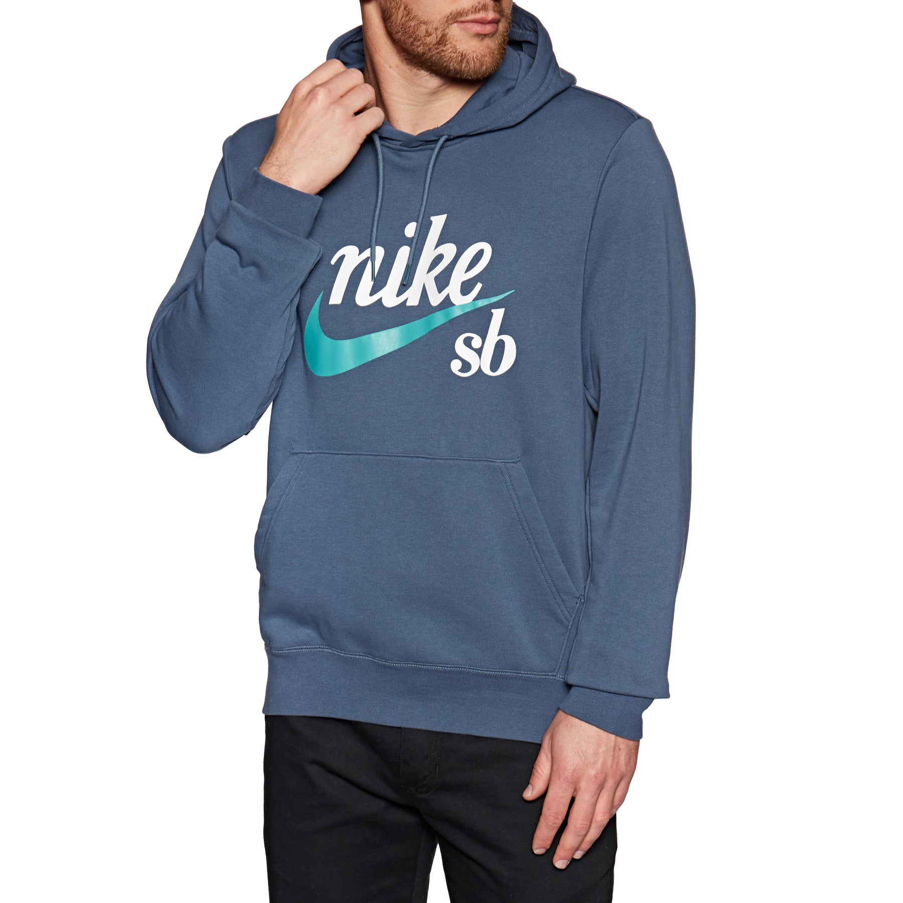 Pullover à Capuche Nike SB Washed Icon - Obsidian