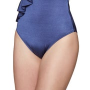 Seafolly Shine On Frill Front Swimsuit