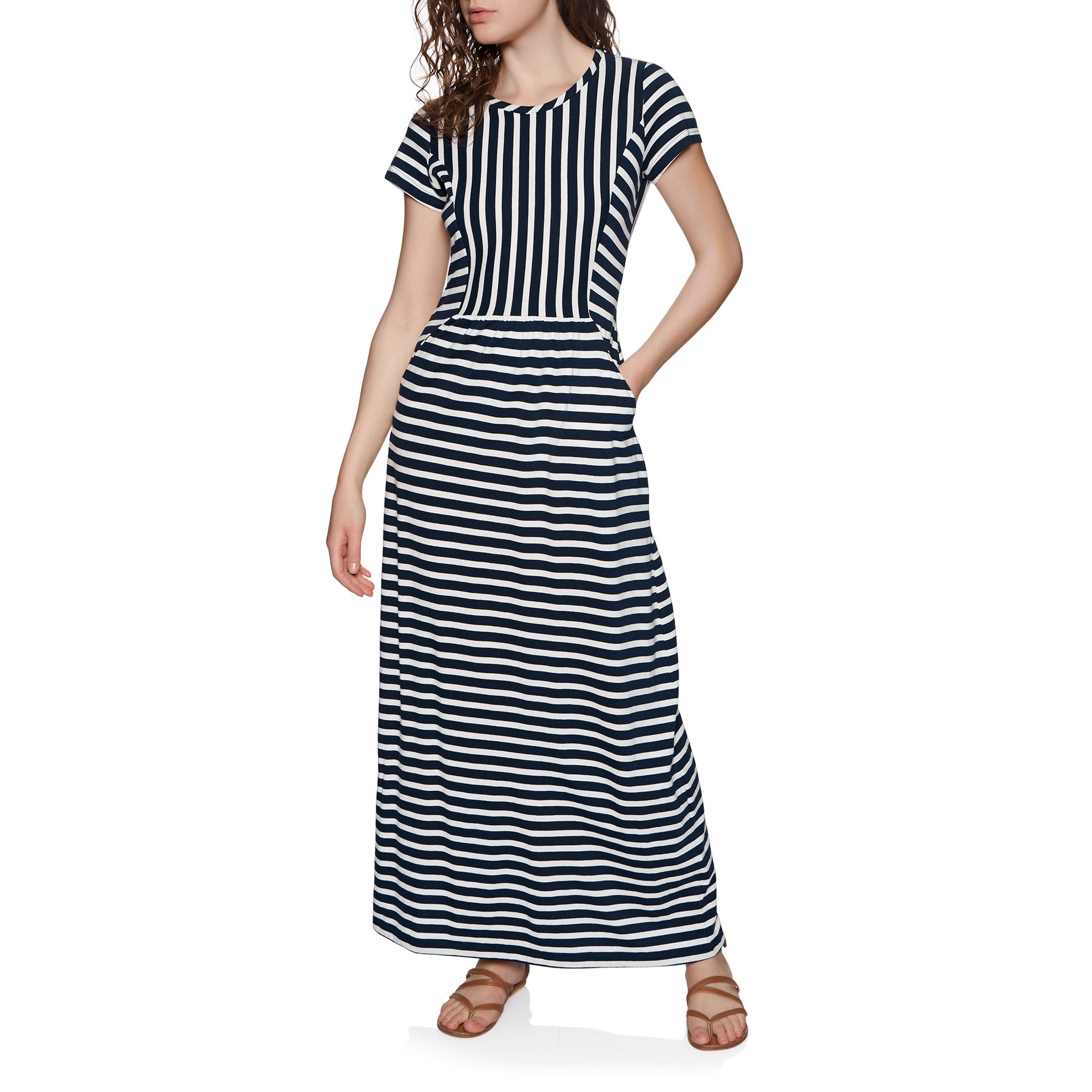 Joules Trudy Womens Dress - Cream Navy Stripe