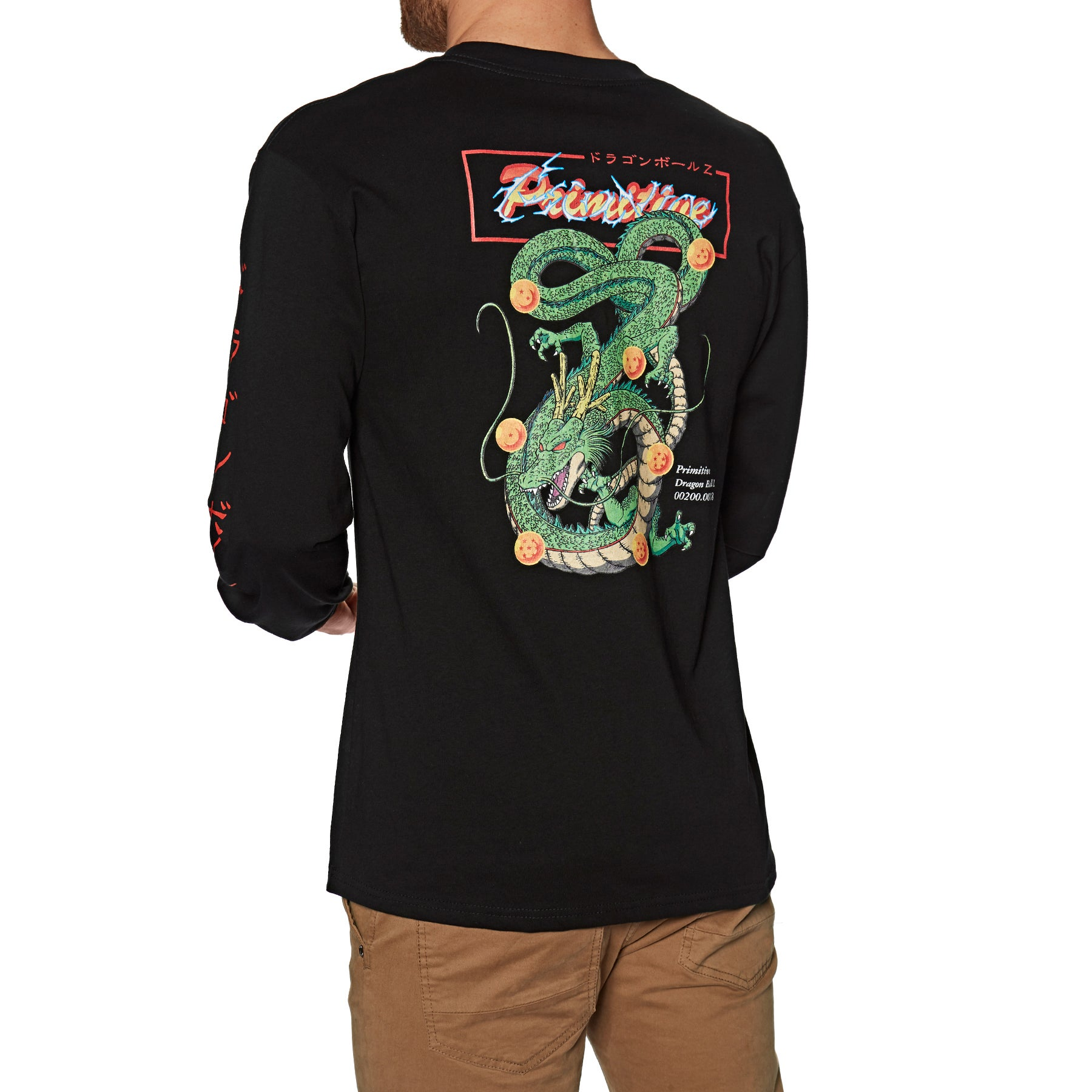 Camiseta de manga larga Primitive Shenron Club Intl - Black