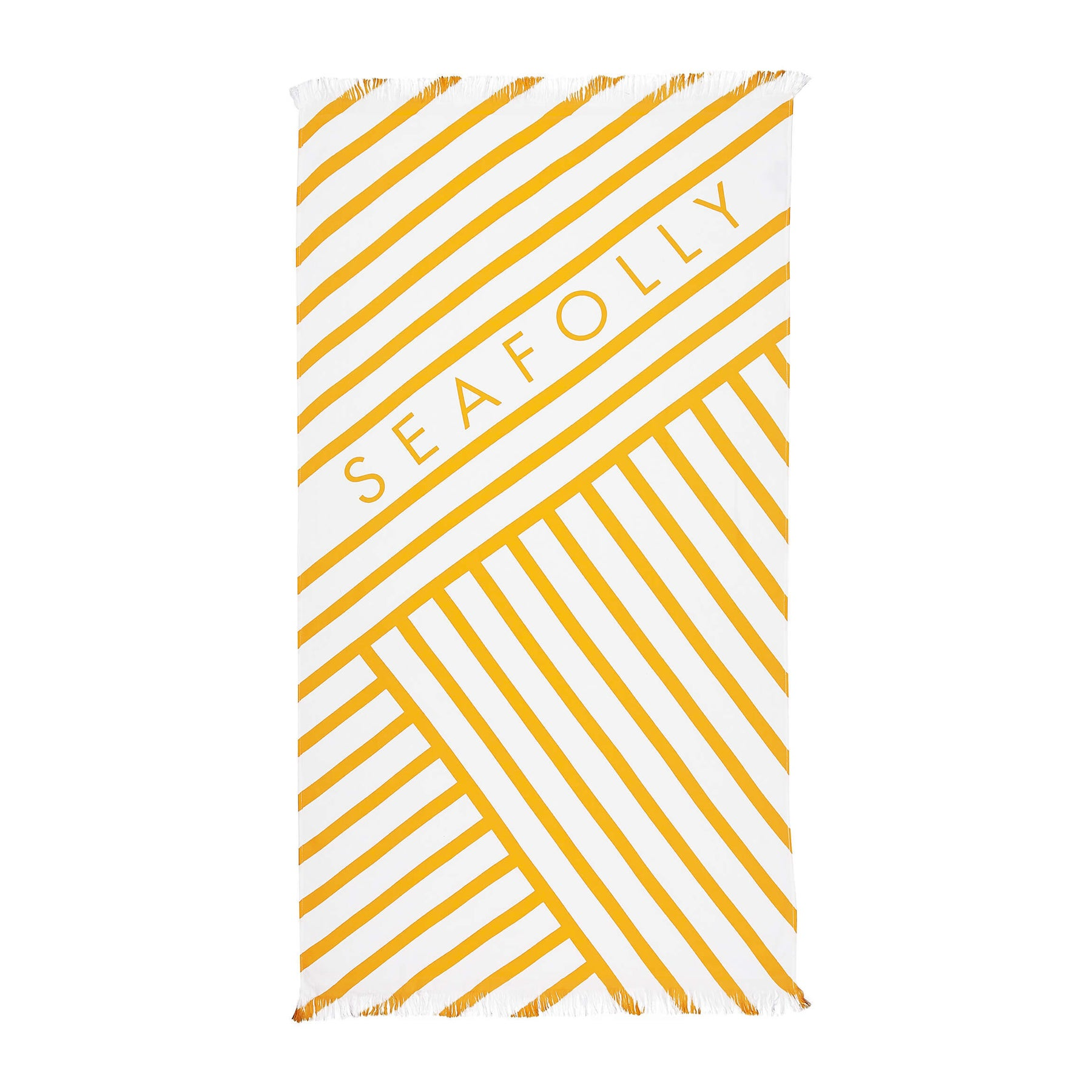 Beach Towel Seafolly Angled Stripe - Buttercup