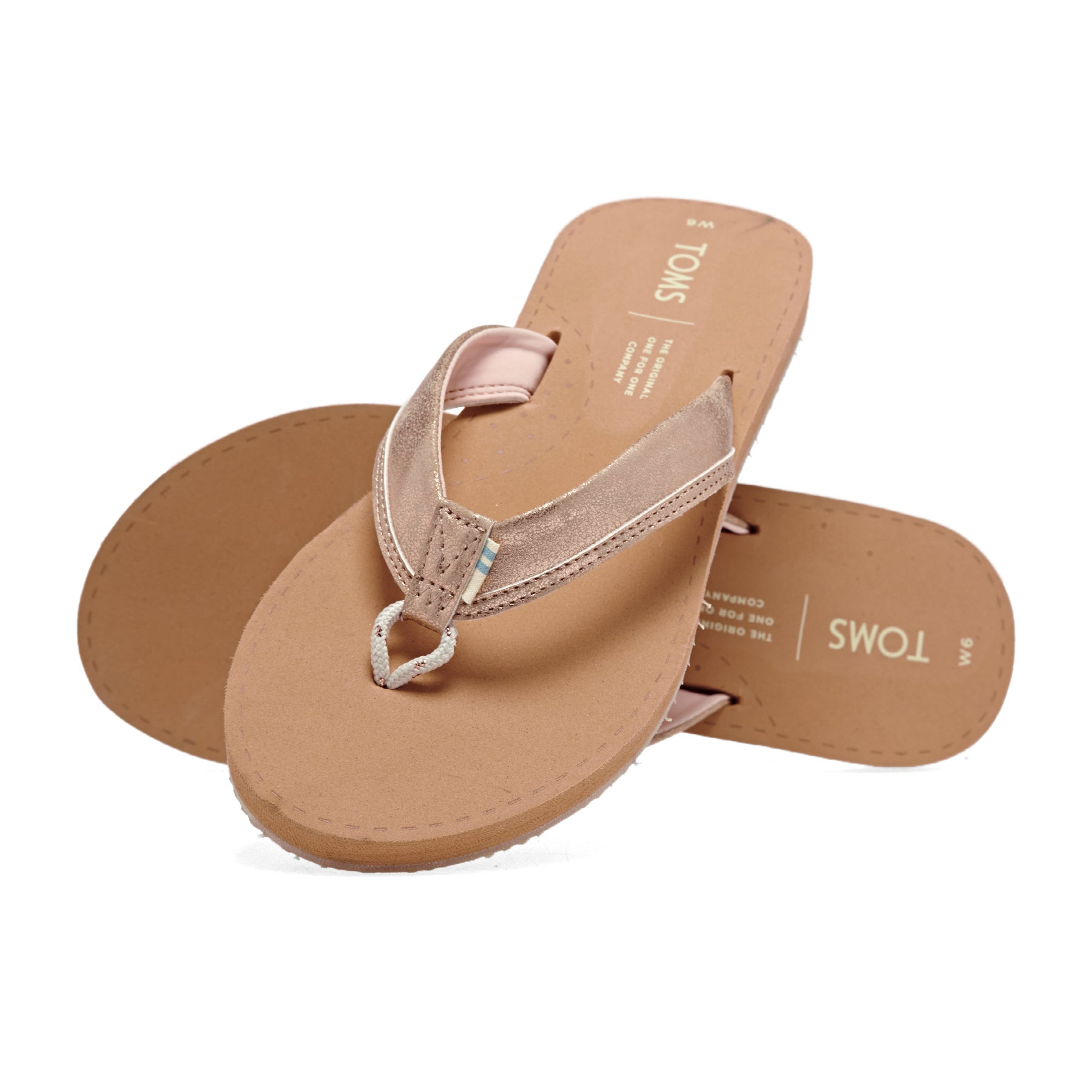 Toms Gabi Leather Womens Sandals - Gold