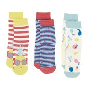 Joules Set Of Three Bamboo Girls Socks
