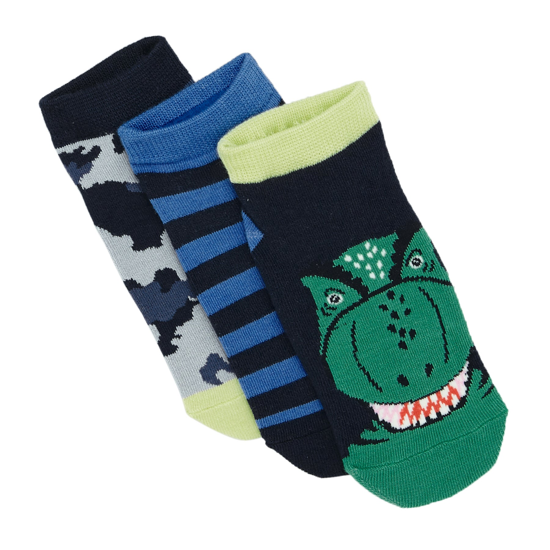 Calze Joules Eat Feet Shorty - Navy Dino