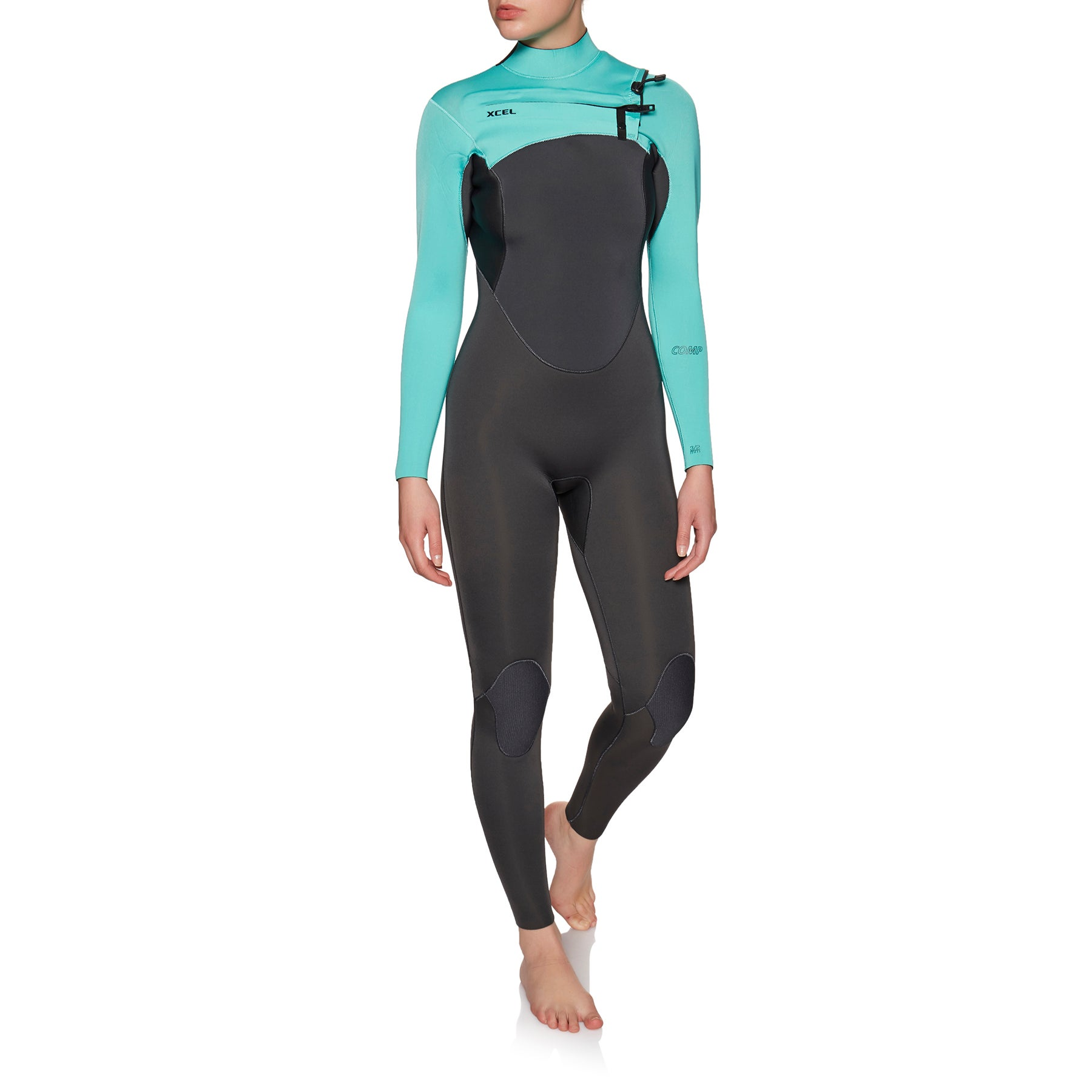 Xcel Comp 4/3mm Chest Zip Wetsuit - Graphite Pistachio