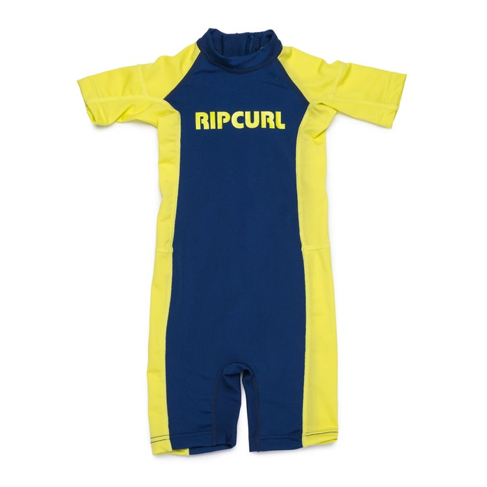 f0b0cac42f Rip Curl Groms Short Sleeve Sun Suit Boys Rash Vest available from Surfdome