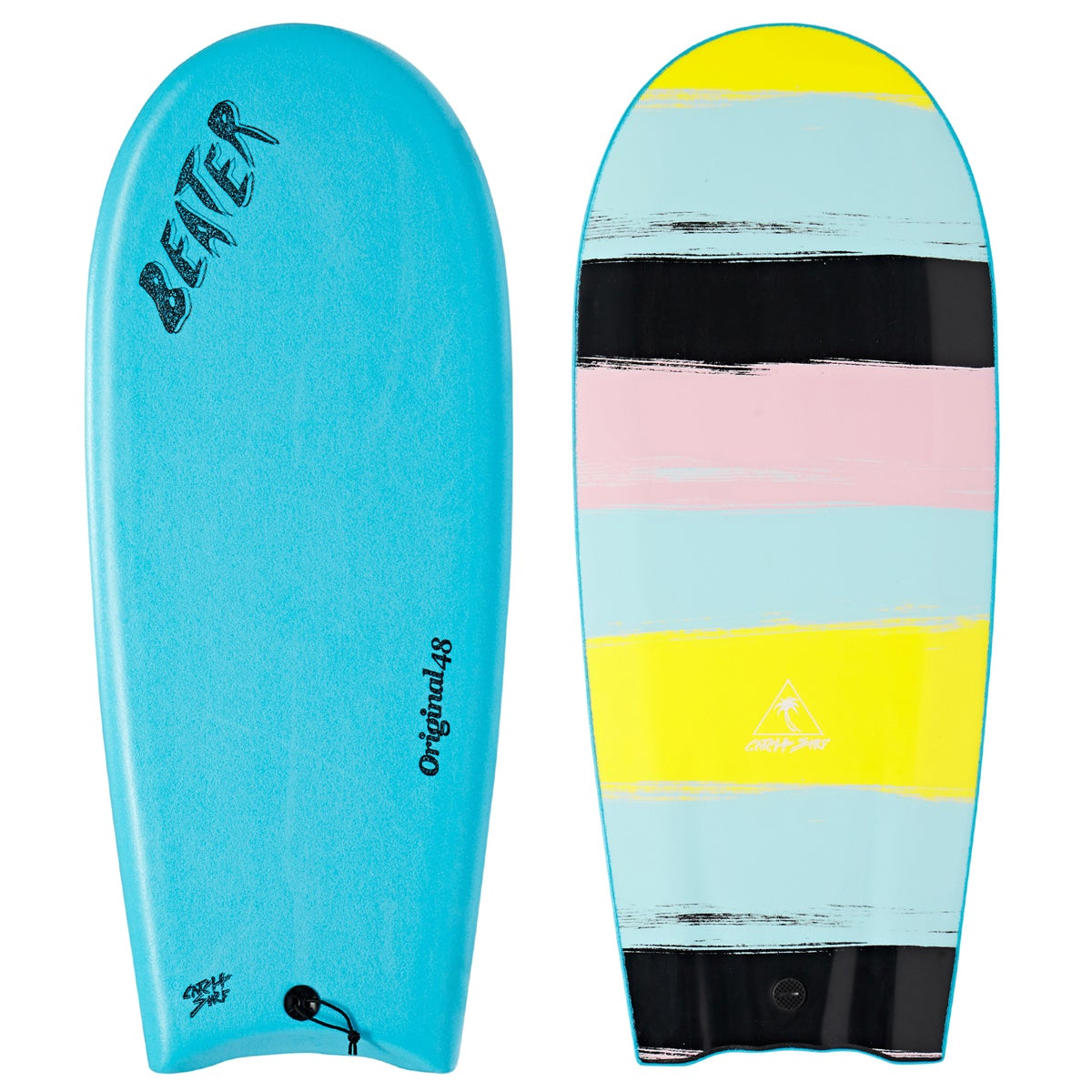 Catch Surf Beater Original Finless Surfboard - Blue Curacao